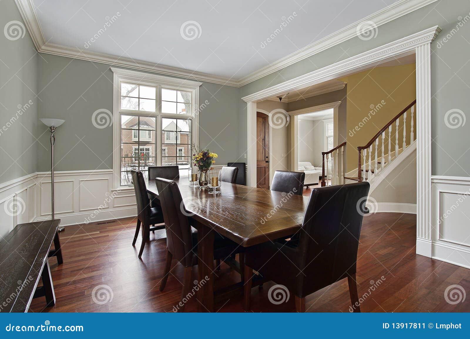 Eetkamer met loungemening