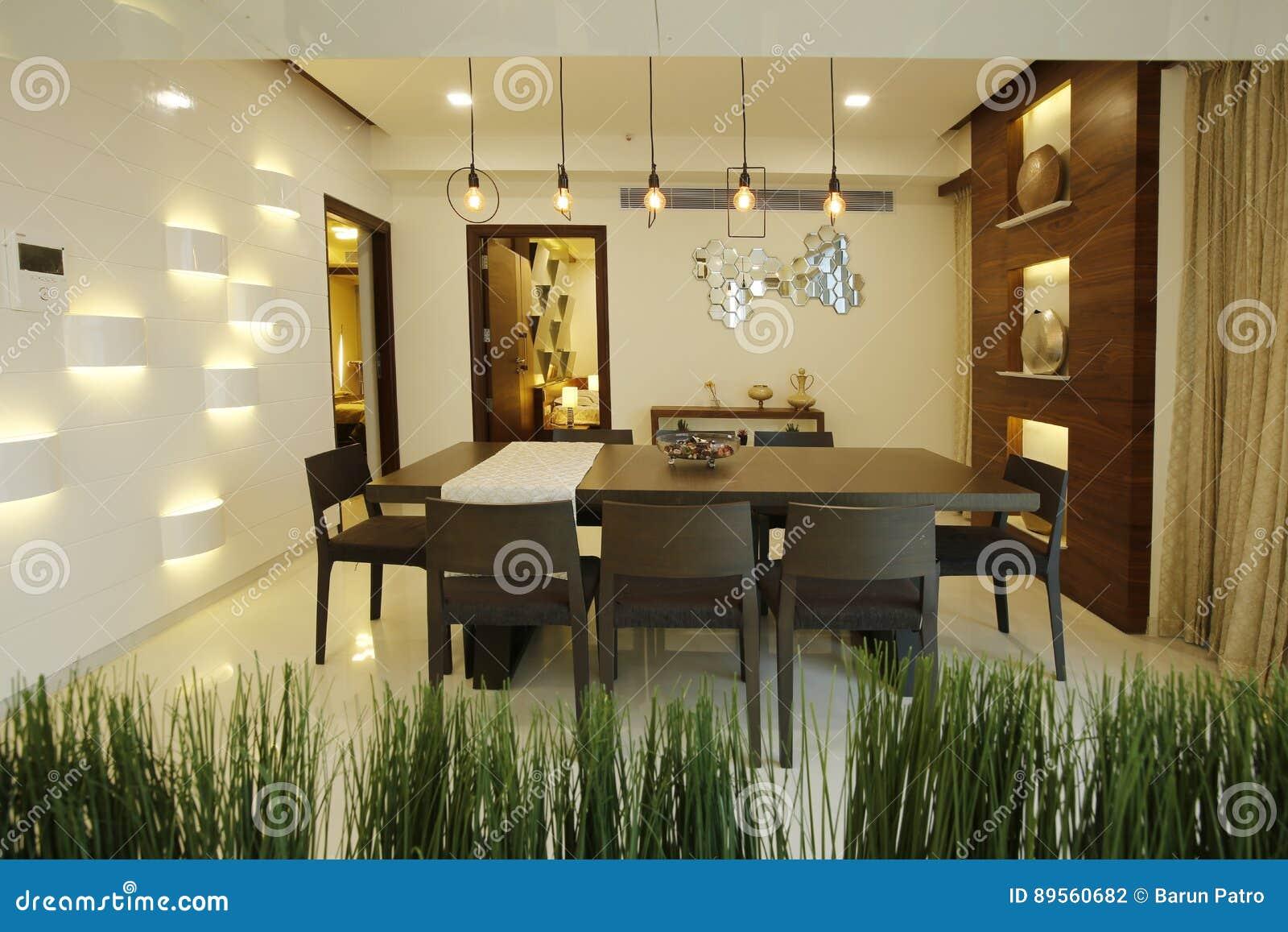 Eetkamer in modern huis