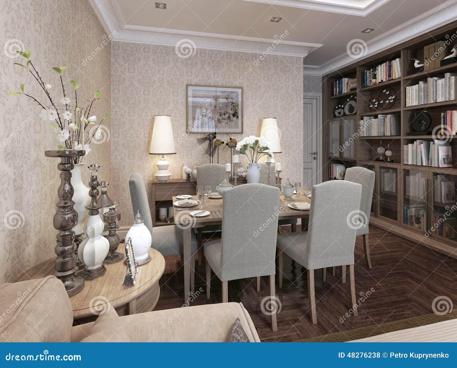 Eetkamer moderne stijl stock illustratie illustratie bestaande
