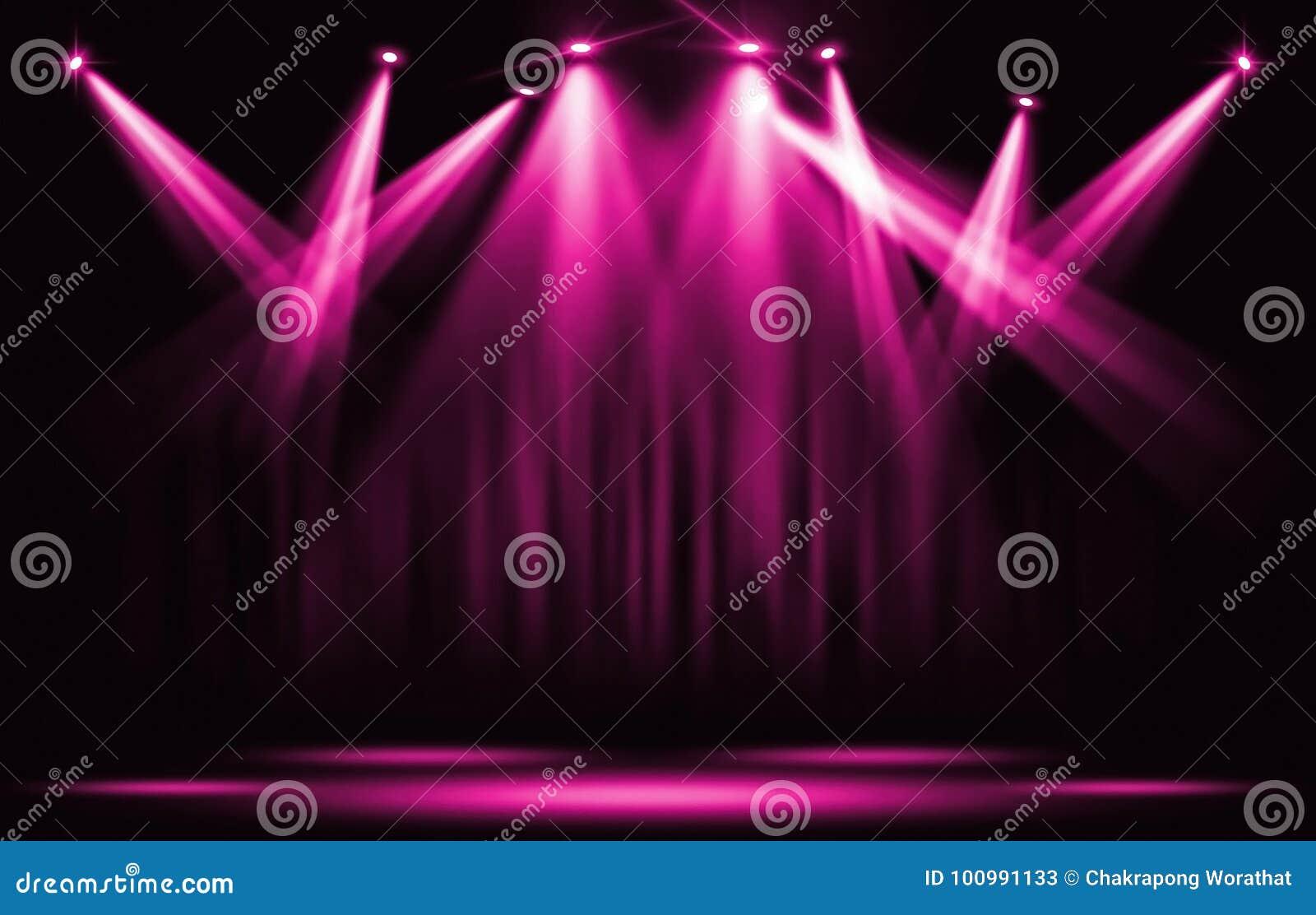 Efectúe las luces Proyector violeta rosado con seguro con el dar
