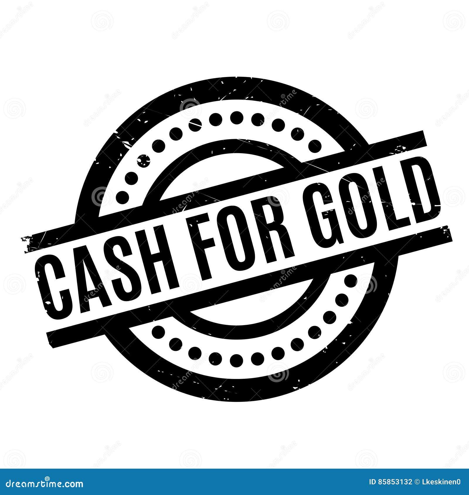 Efectivo para el sello de goma del oro
