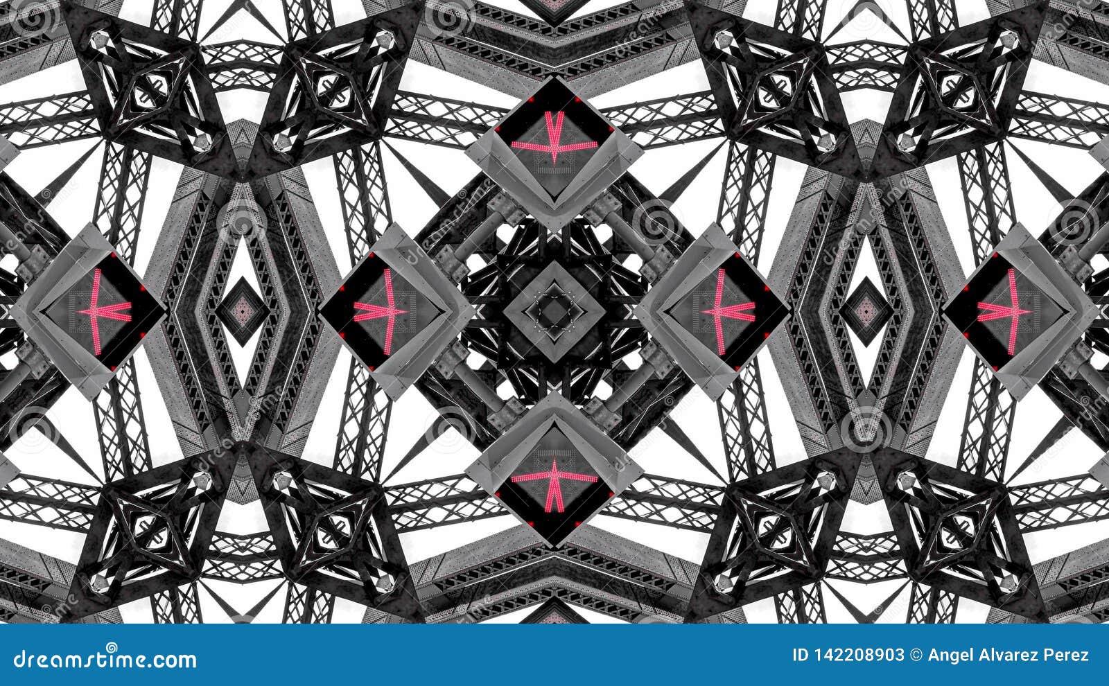 Efecto del espejo de las estructuras del metal