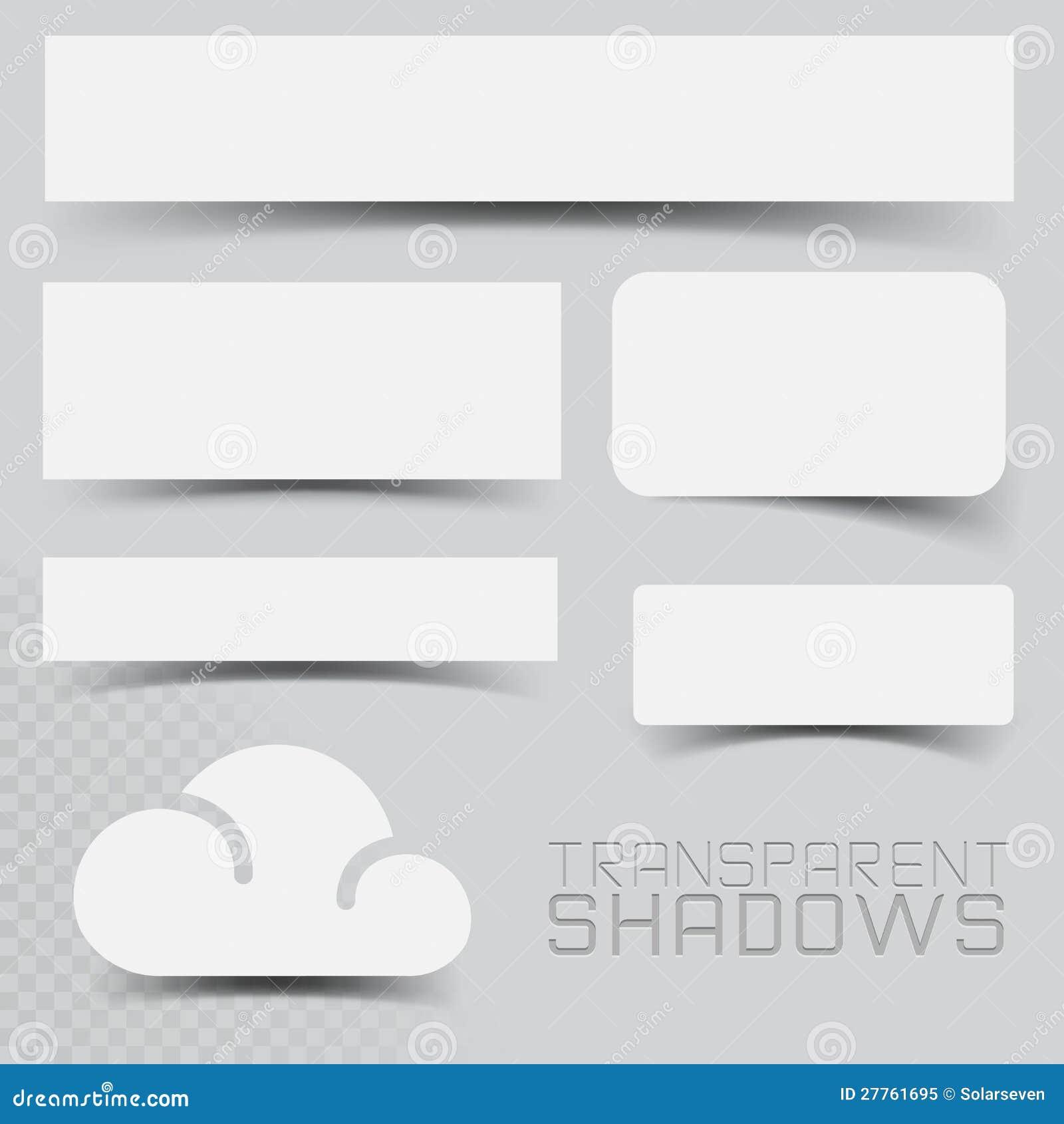 Efectos de sombra del vector