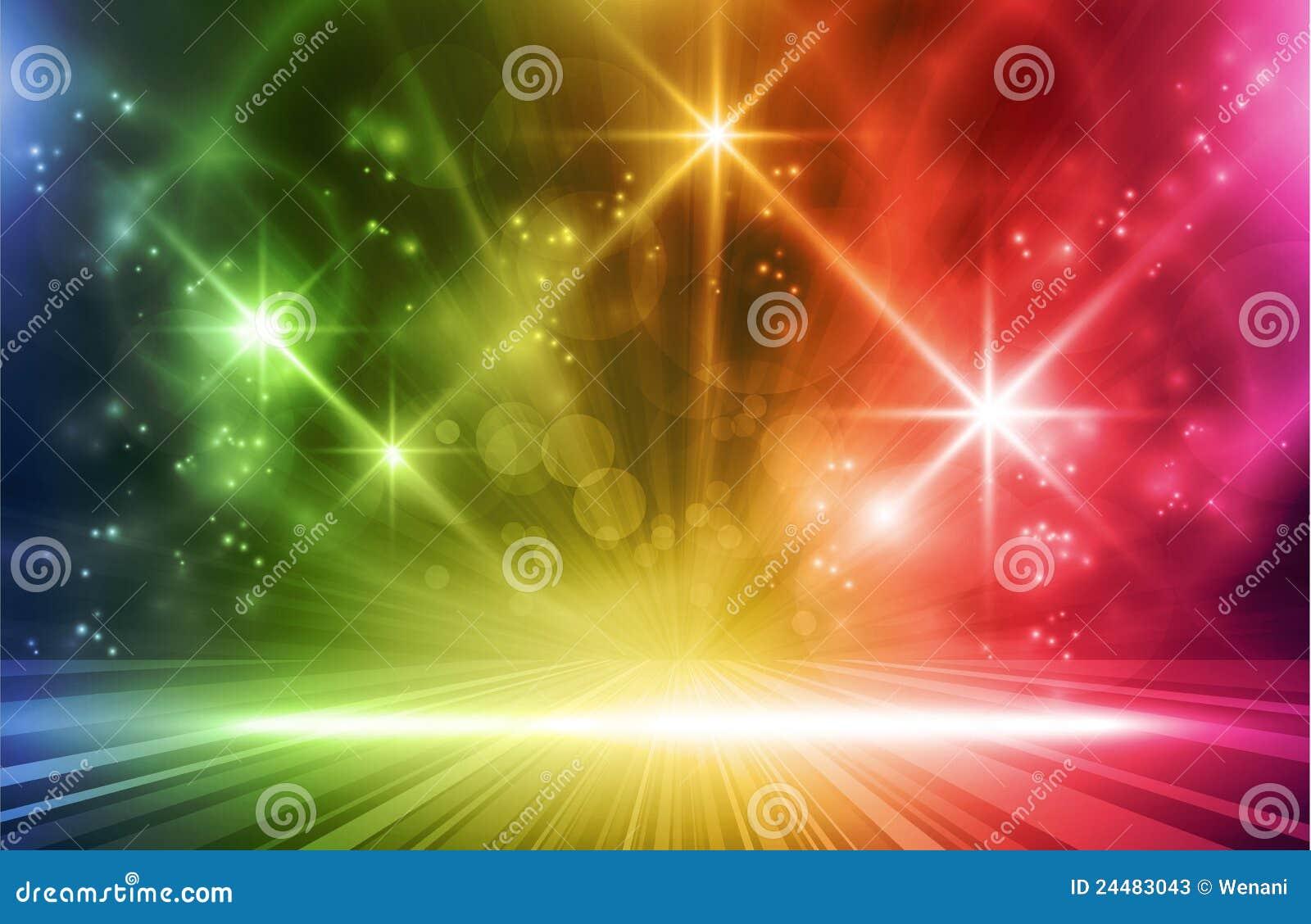Efectos luminosos del vector colorido