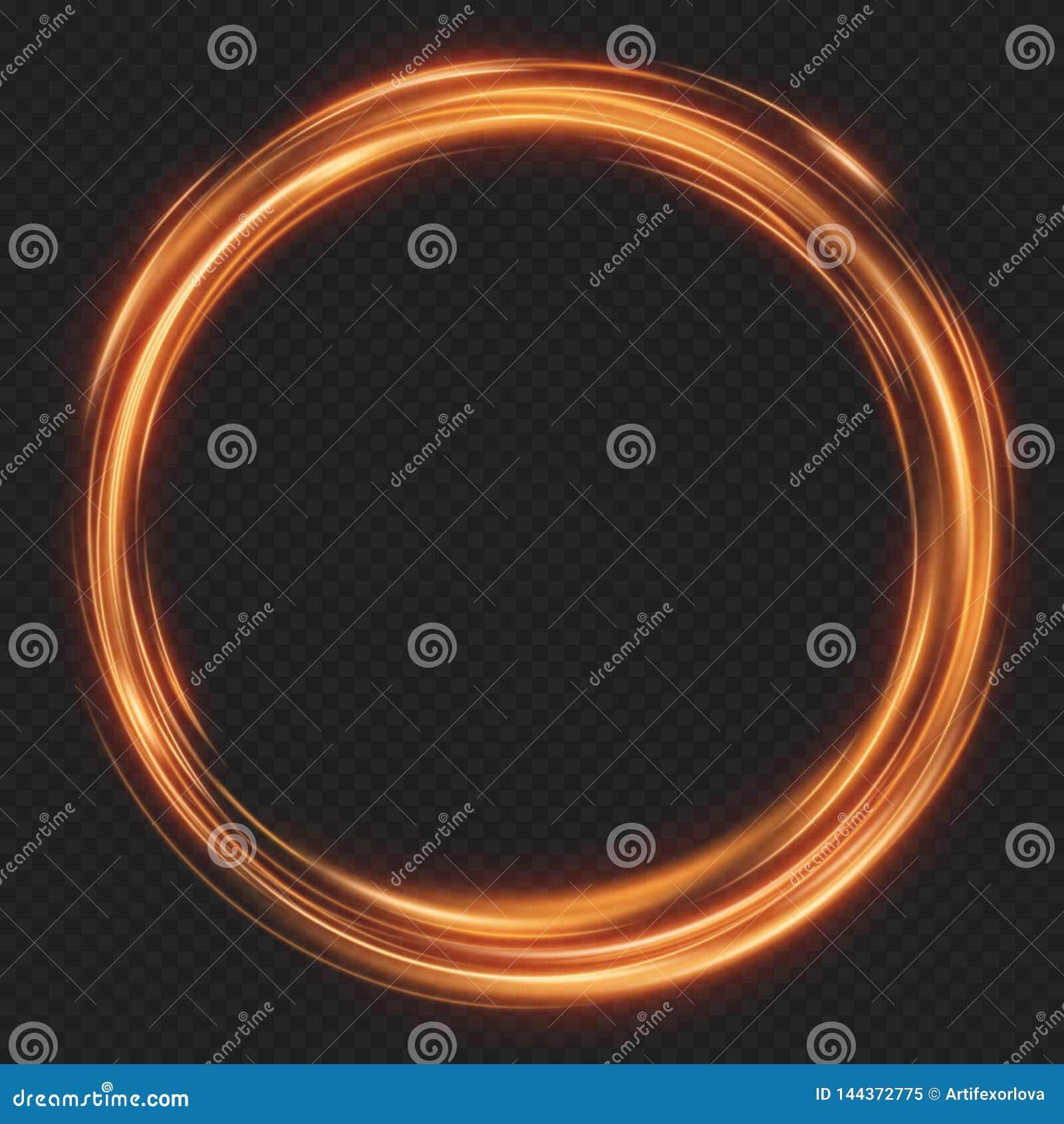 Efeito abstrato do glint do fulgor de linhas de beira rotatórias Quadro de brilho luminoso das luzes de néon Eps 10