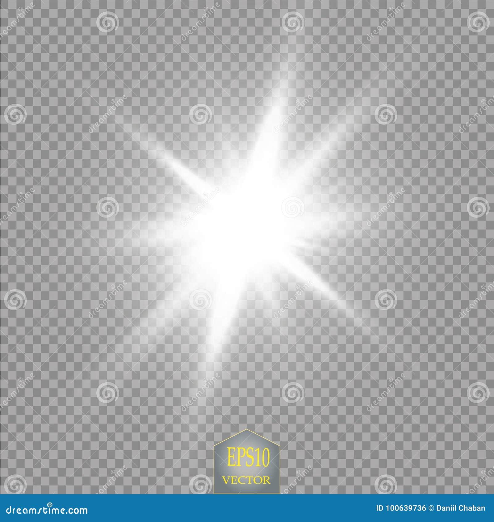 Efeito da luz do fulgor Explosão da estrela com Sparkles Sun Sumário cósmico das luzes de néon da energia do poder
