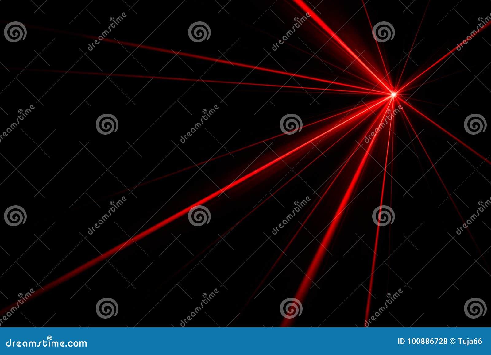 Efeito da luz do raio laser