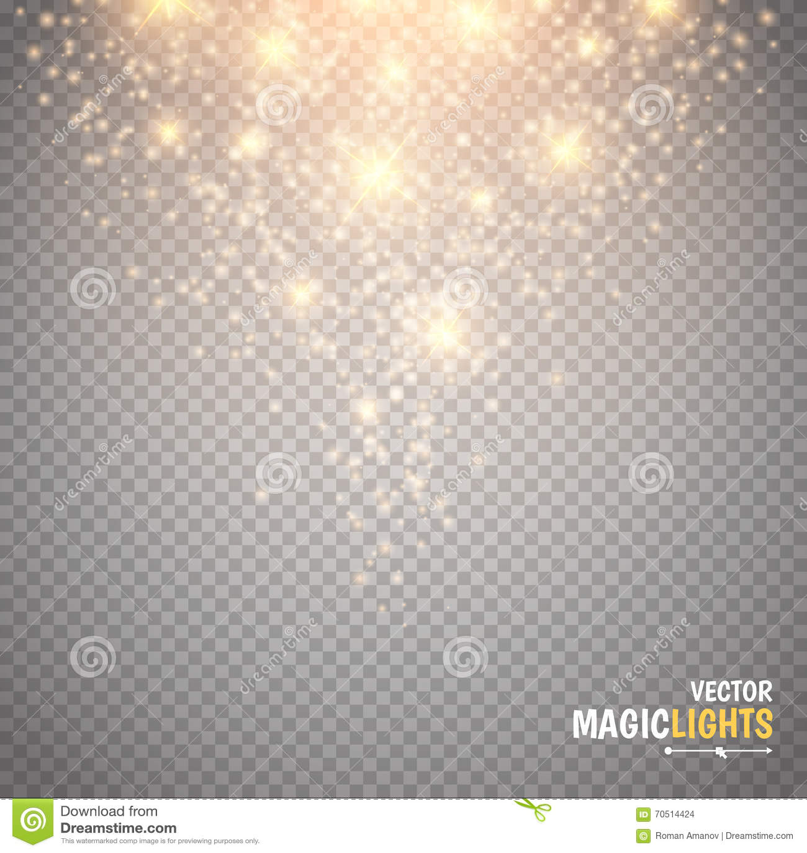 Efeito da luz mágico A luz, o alargamento, a estrela e a explosão do efeito especial do fulgor acendem