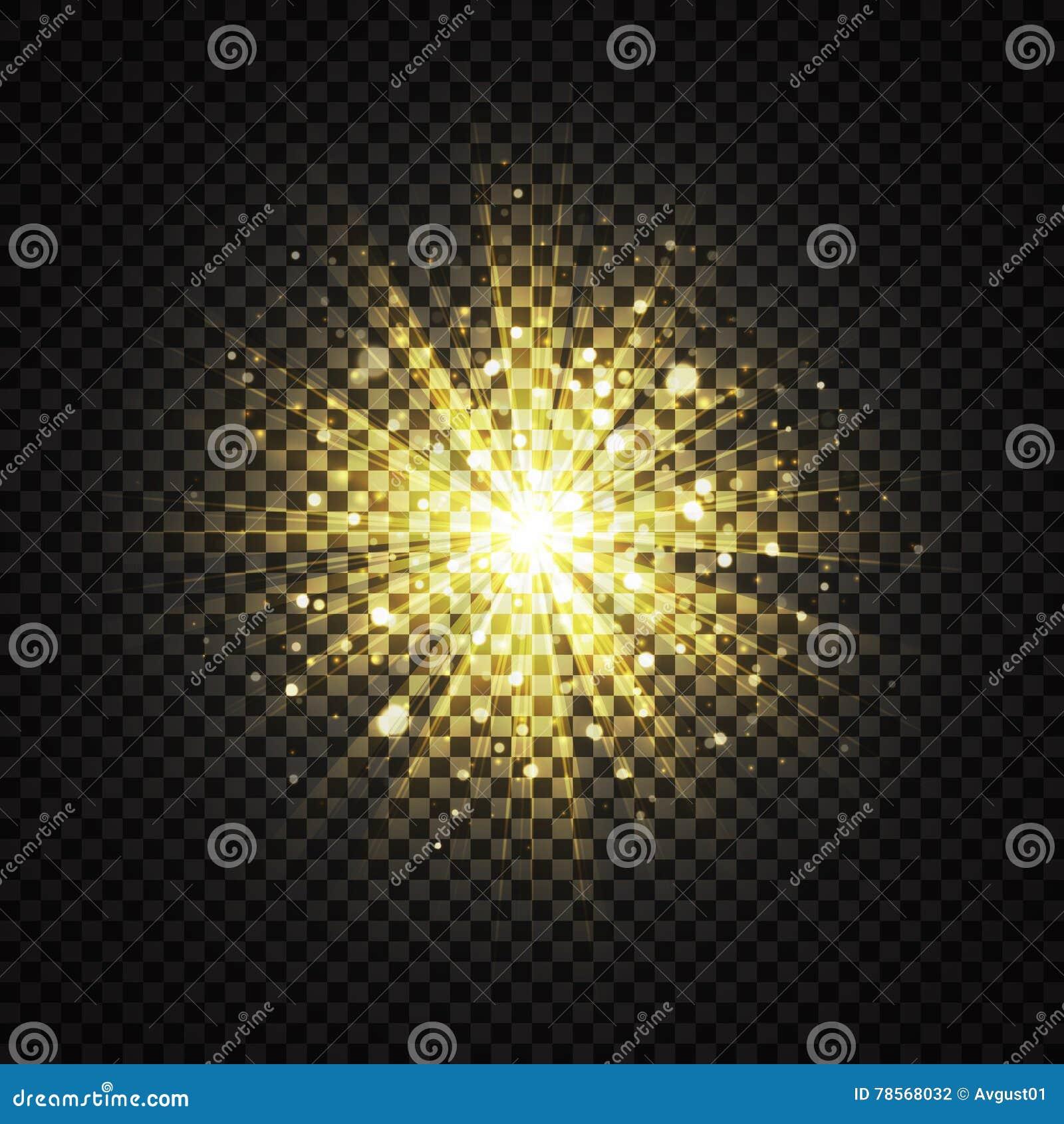 Efeito de fundo claro de incandescência amarelo transparente do brilho