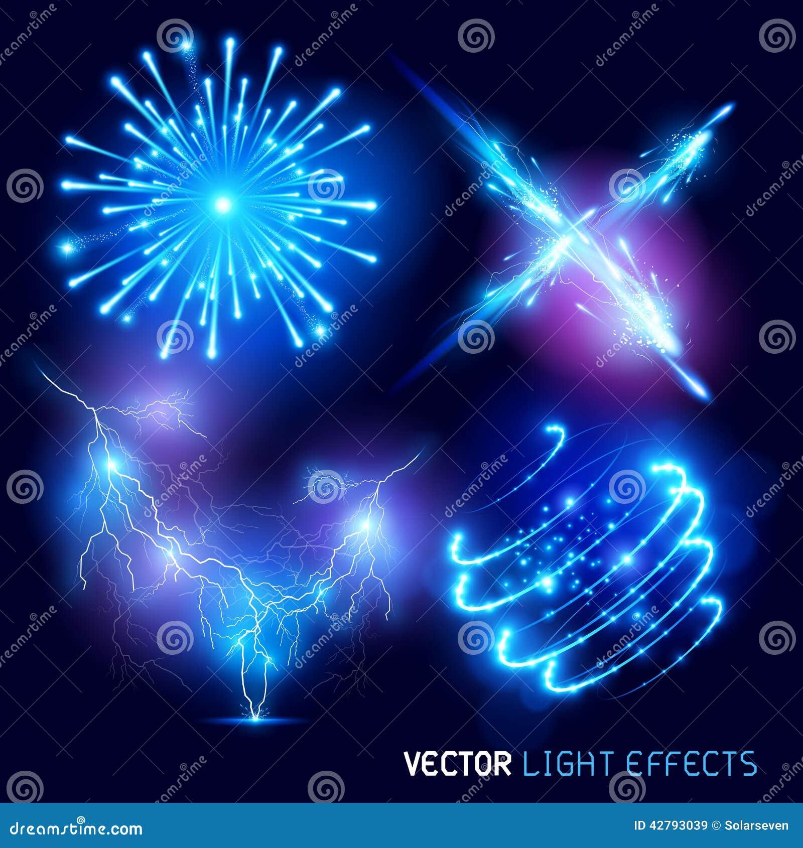 Efeitos da luz do vetor