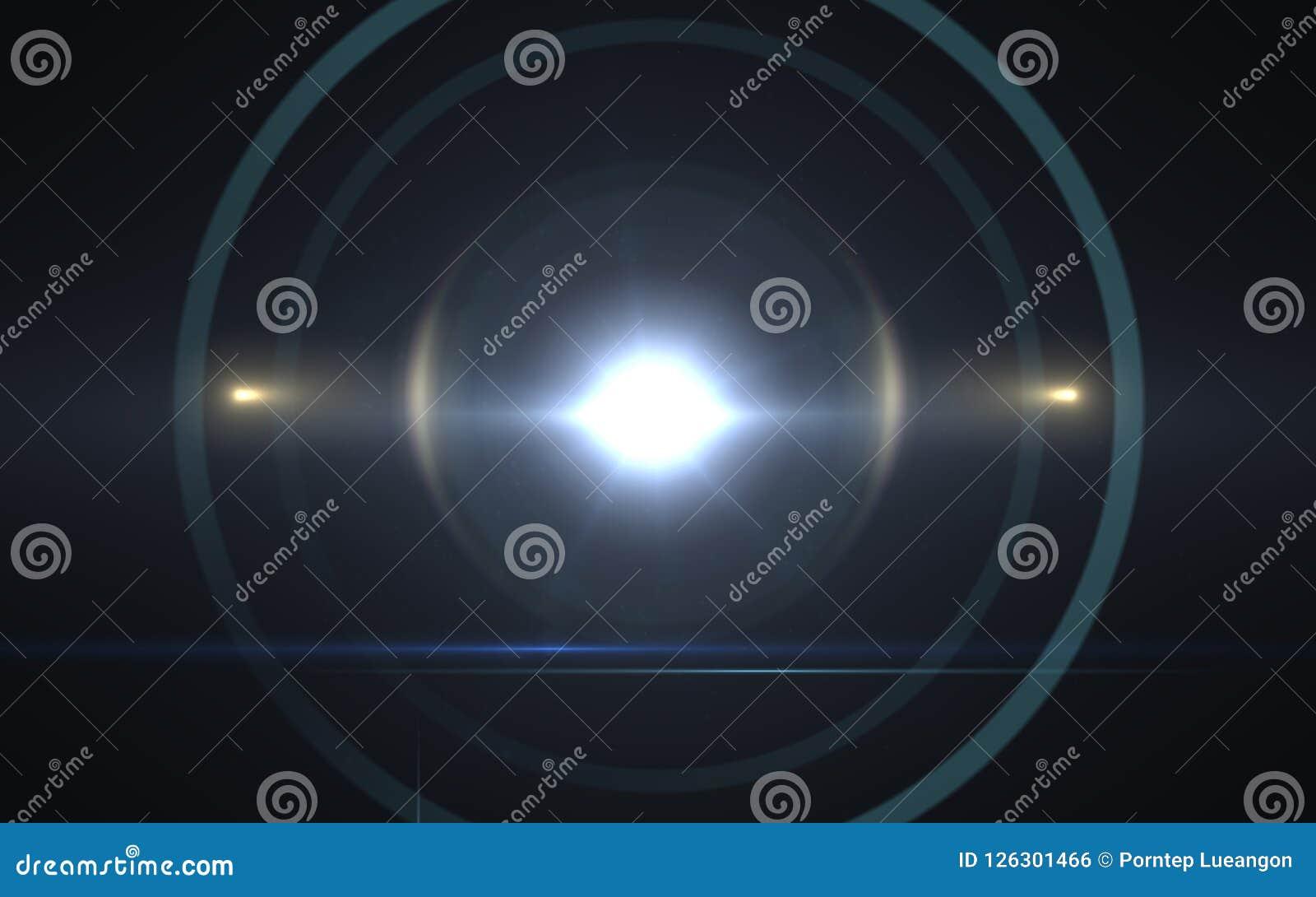 Efeitos solares do alargamento da lente Alargamento abstrato da lente de Digitas do círculo, alargamento da lente, escapes claros