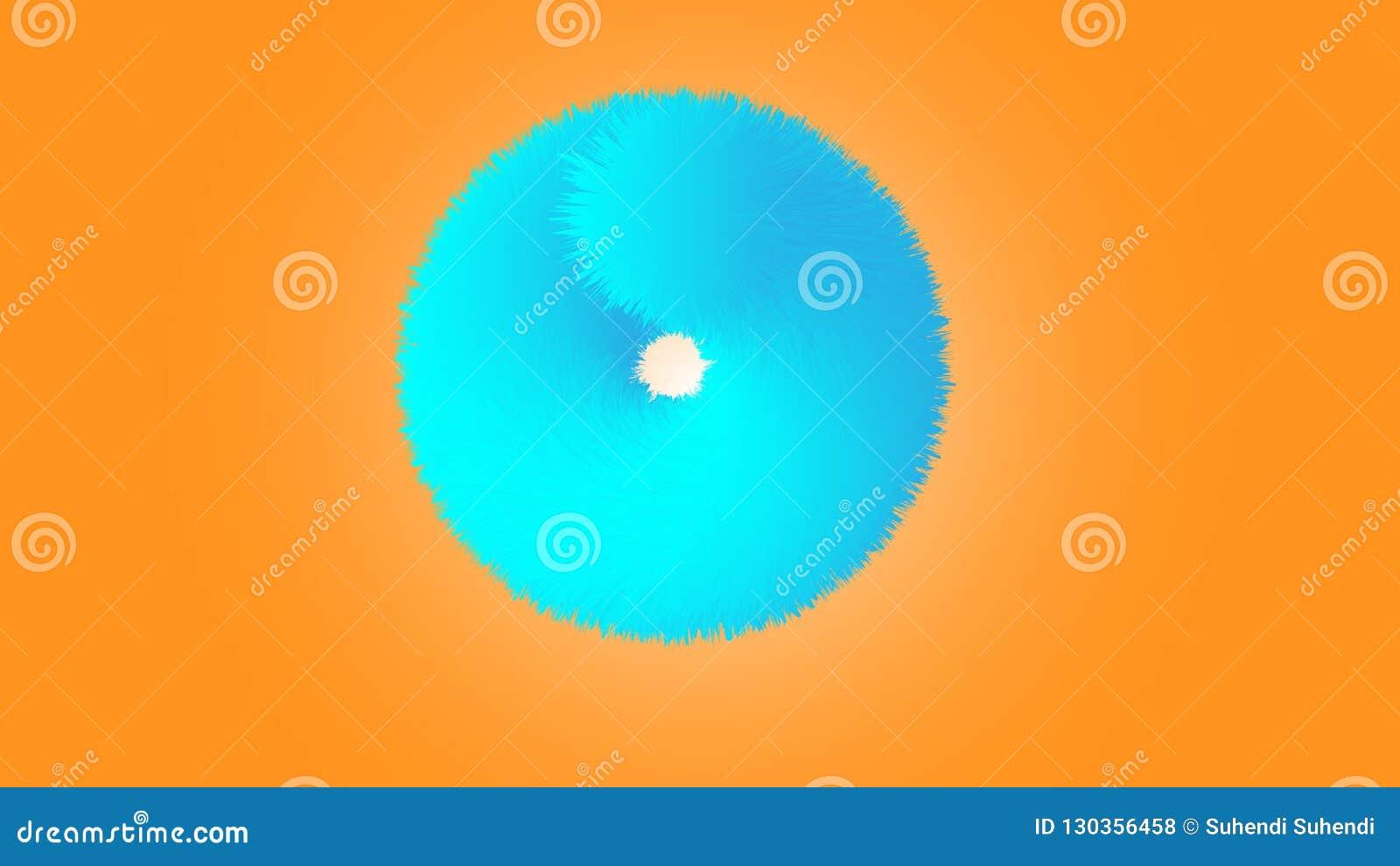 Effekt-Kreis des Pelz-3D