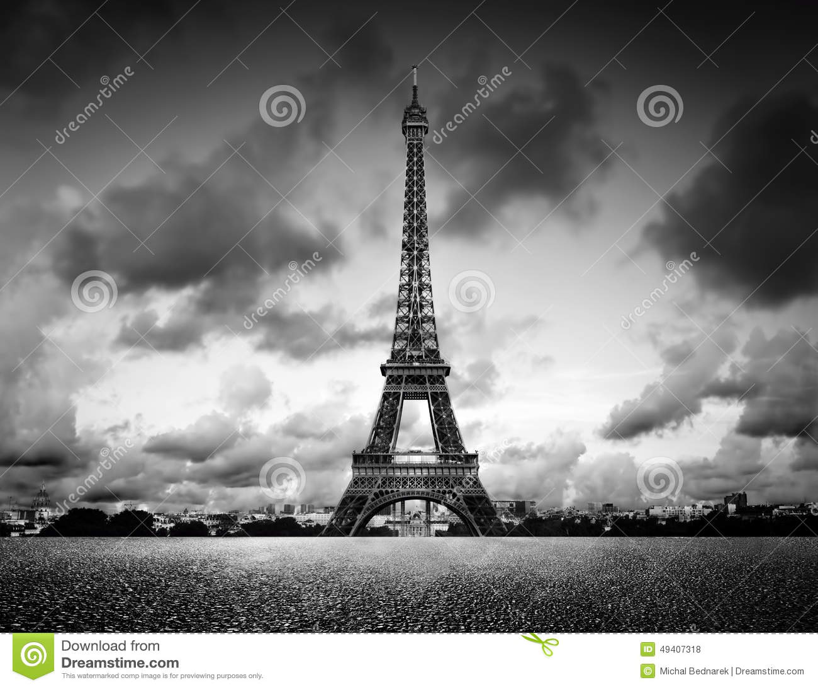 Download Effel-Turm, Paris, Frankreich Schwarzweiss, Weinlese Stockfoto - Bild von romantisch, künstlerisch: 49407318