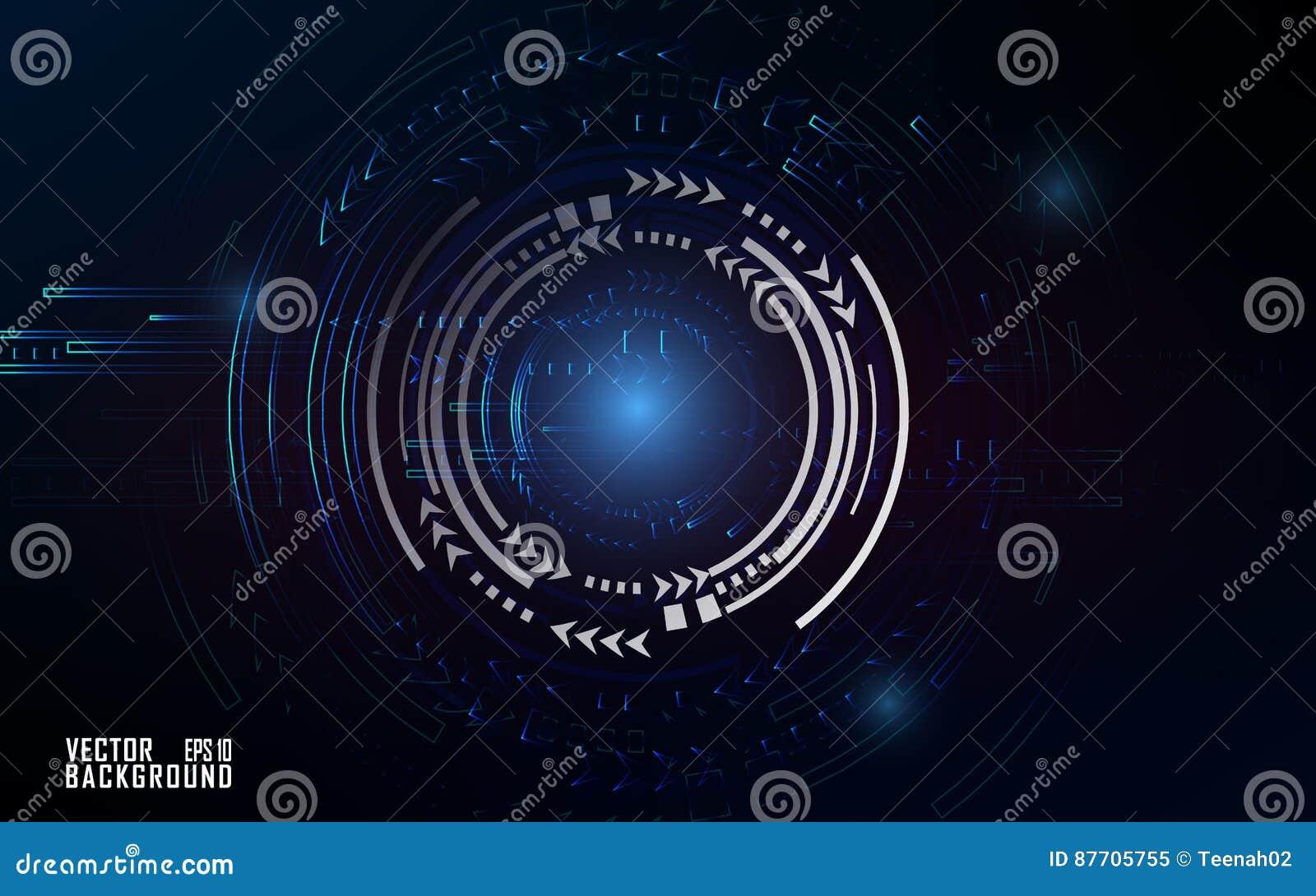 Effet bleuâtre de technologie sur le fond foncé pour la présentation et le calibre d affaires