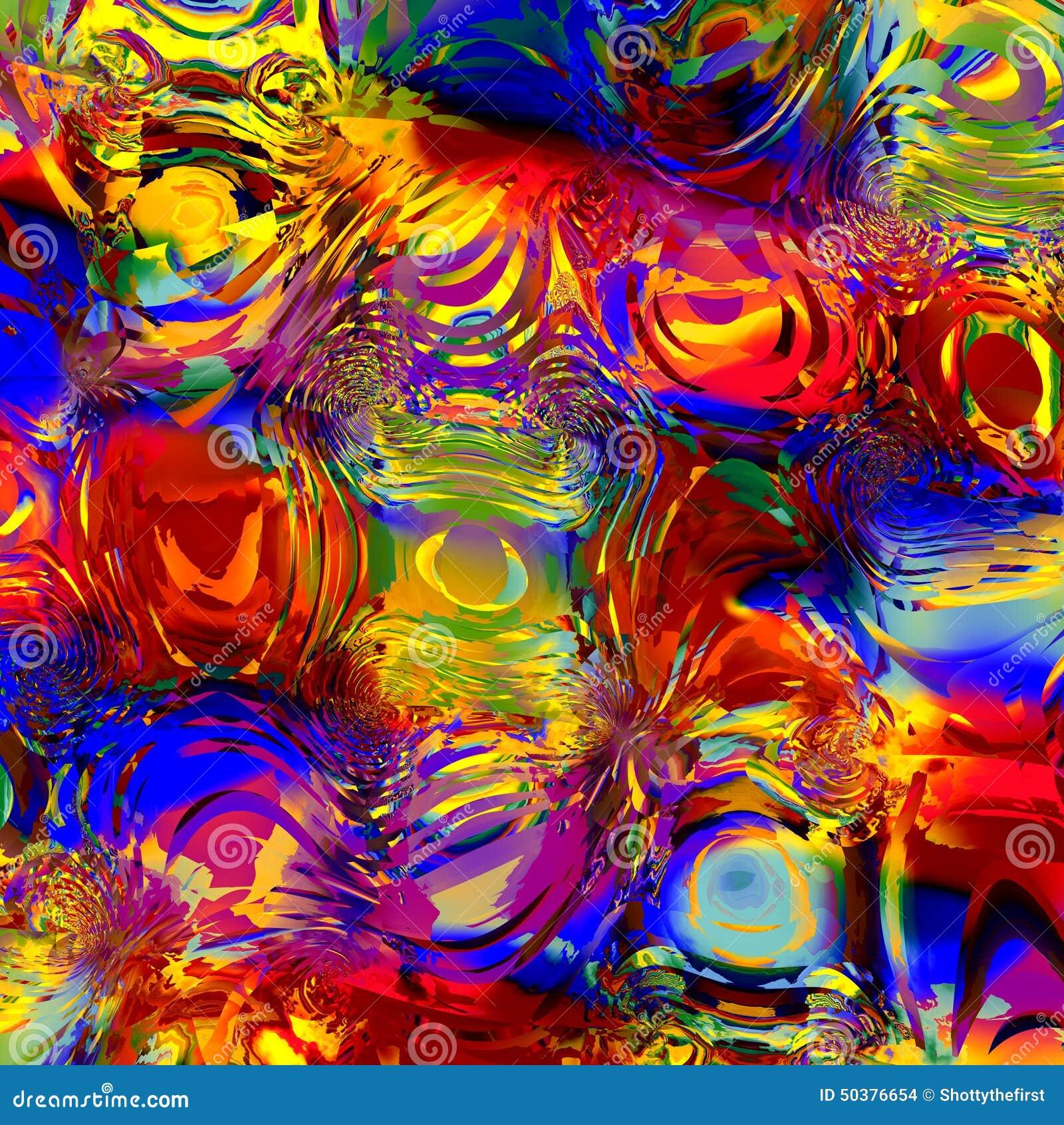 Effet coloré abstrait de l eau de Digital Image produite par Digital Fond pour des illustrations de conception Recouvrement semi-