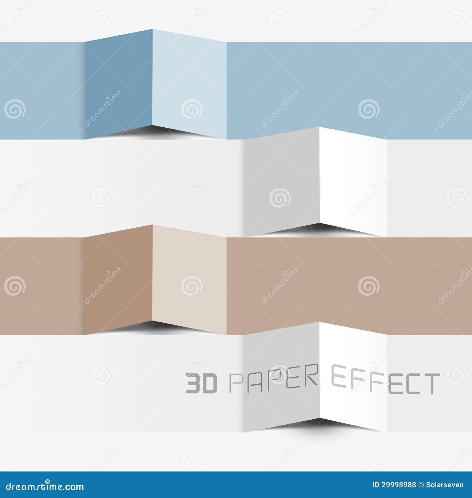 Effet de papier de vecteur