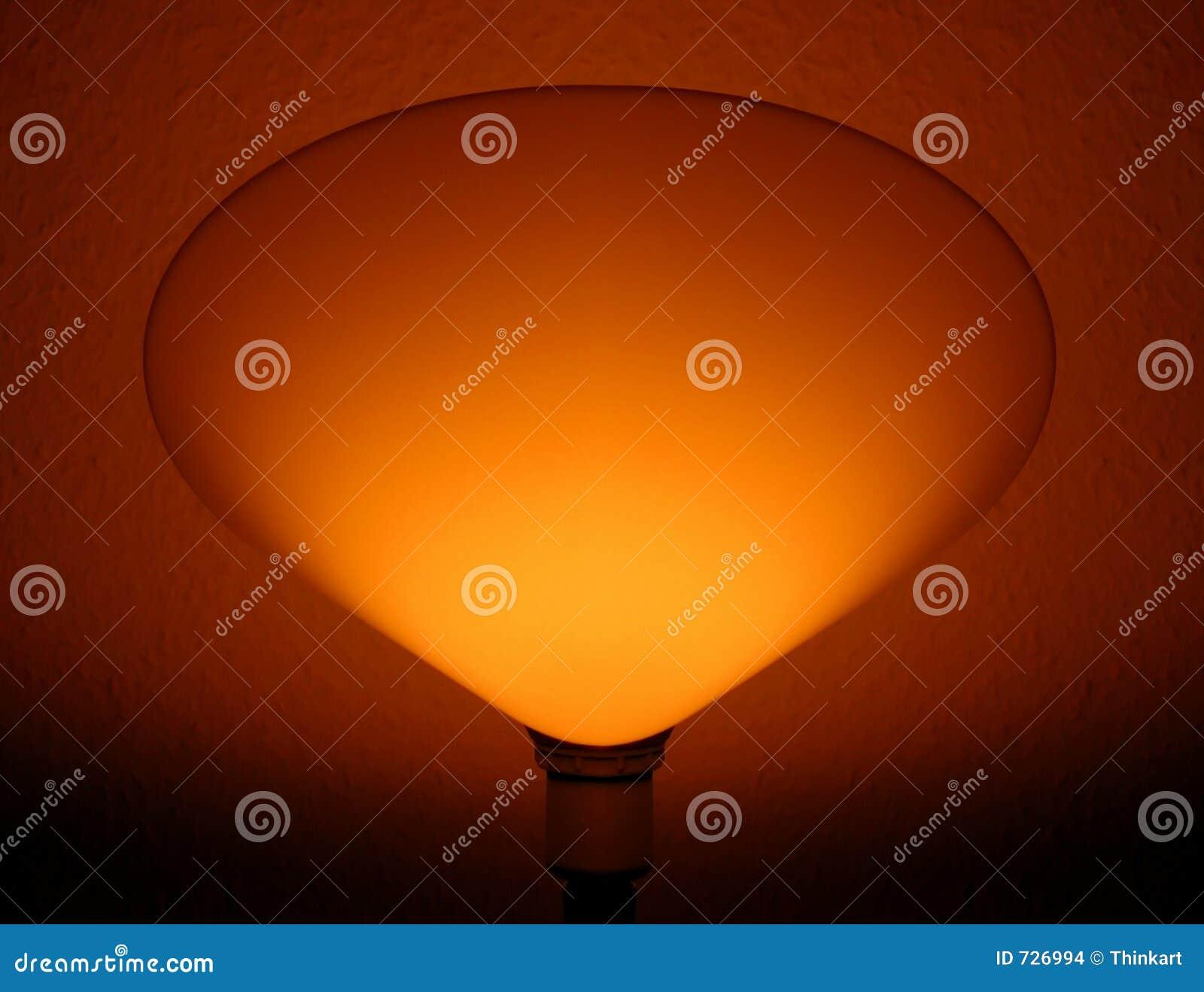 Effet de la lumière arrière d une lampe de chambre à coucher