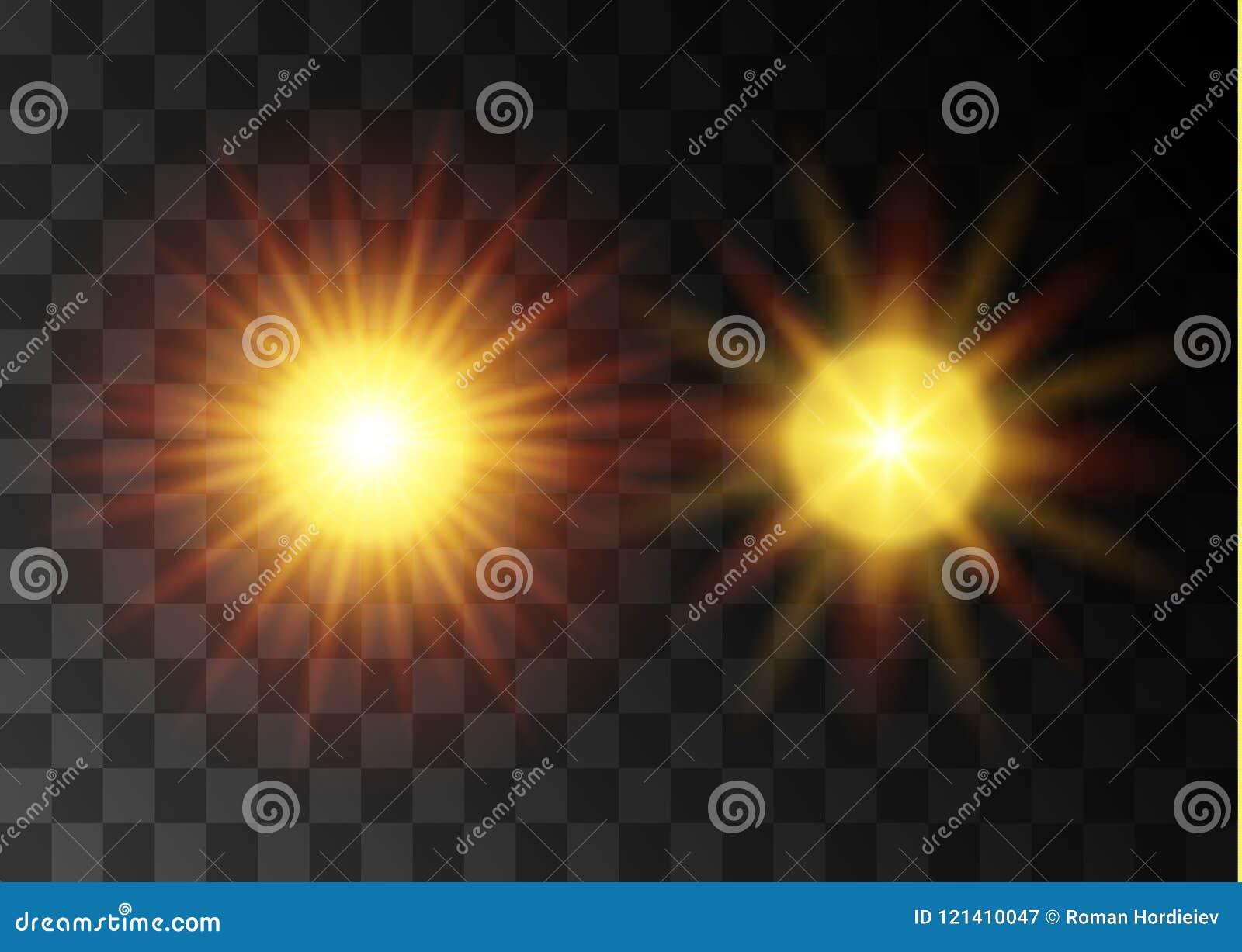 Effet de la lumière de lumière du soleil de vecteur de fusée spéciale transparente de lentille Modèle abstrait de Noël Particules