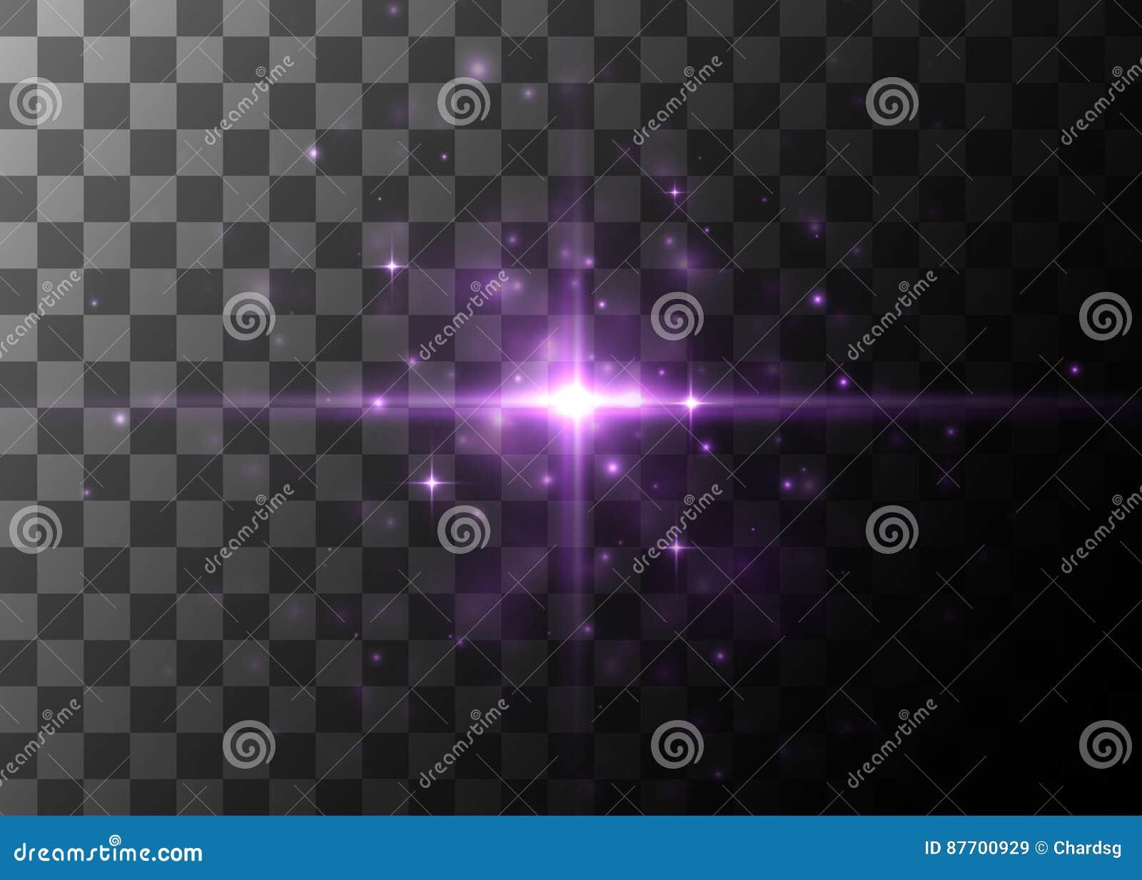 Effet de la lumière, fusée rougeoyante Élément de vecteur