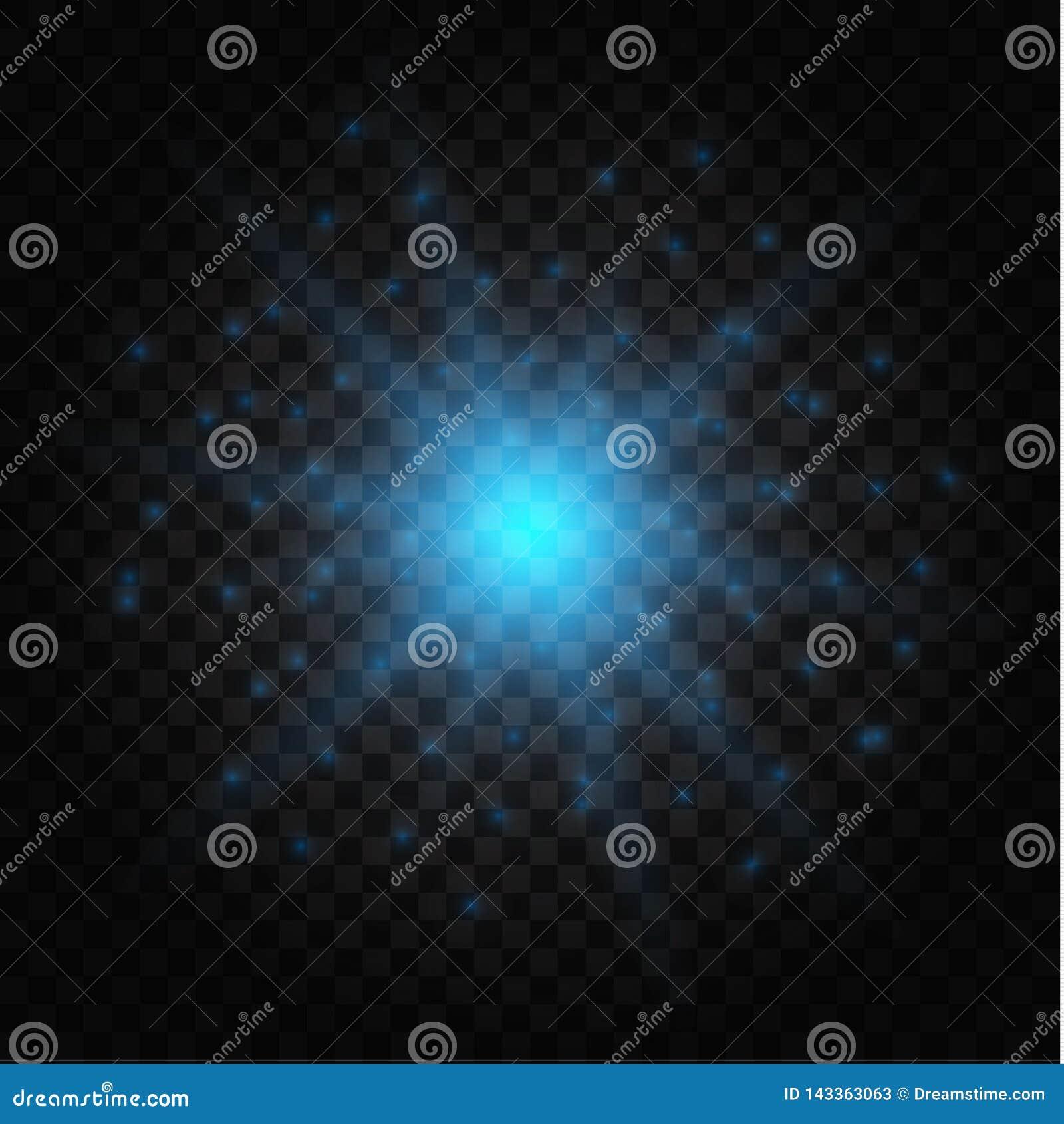 Effet de la lumière rougeoyant, fusée, explosion et étoiles