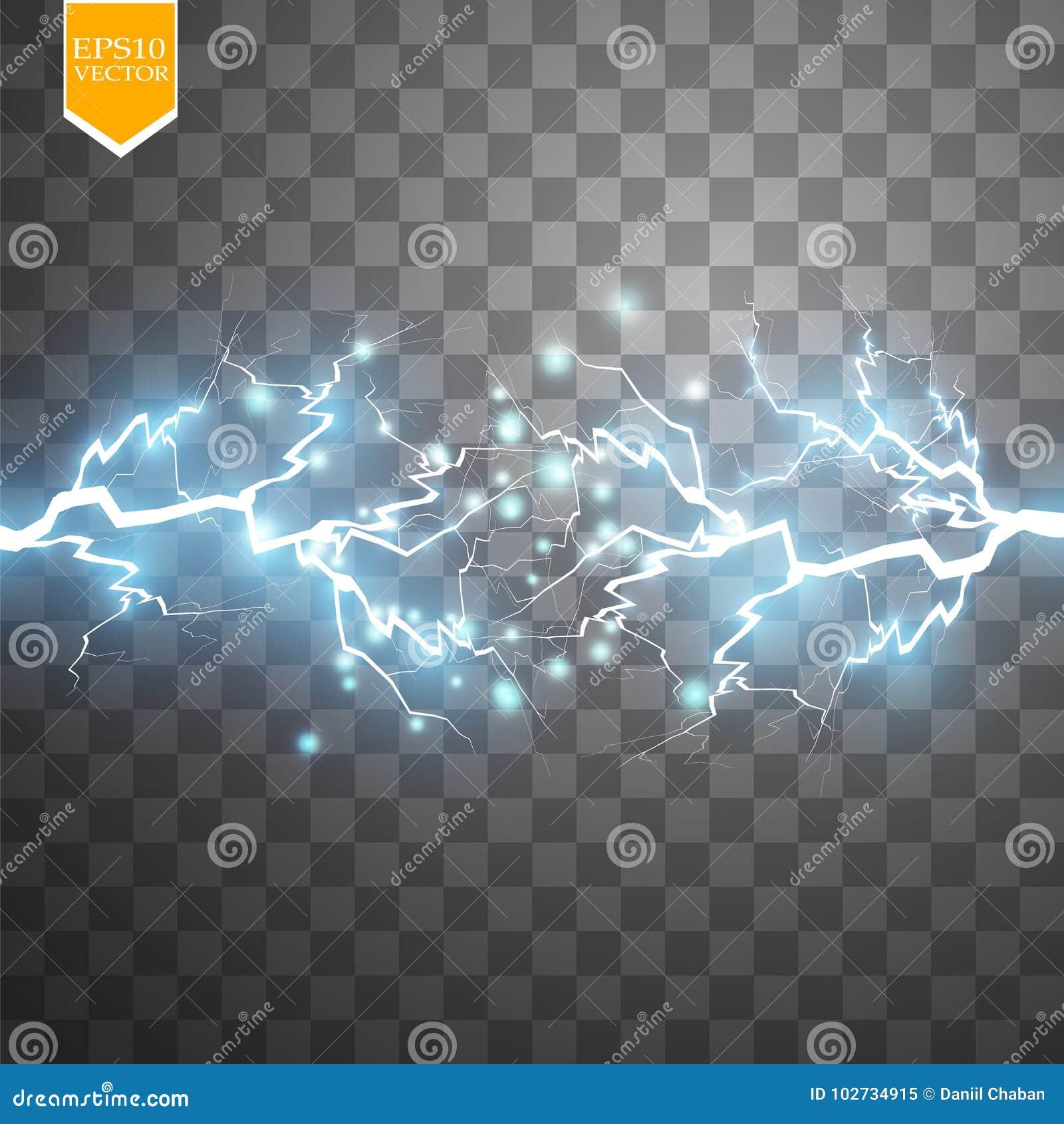 Effet de la lumière spécial d énergie d explosion abstraite bleue de choc avec l étincelle Groupe de foudre de puissance de lueur