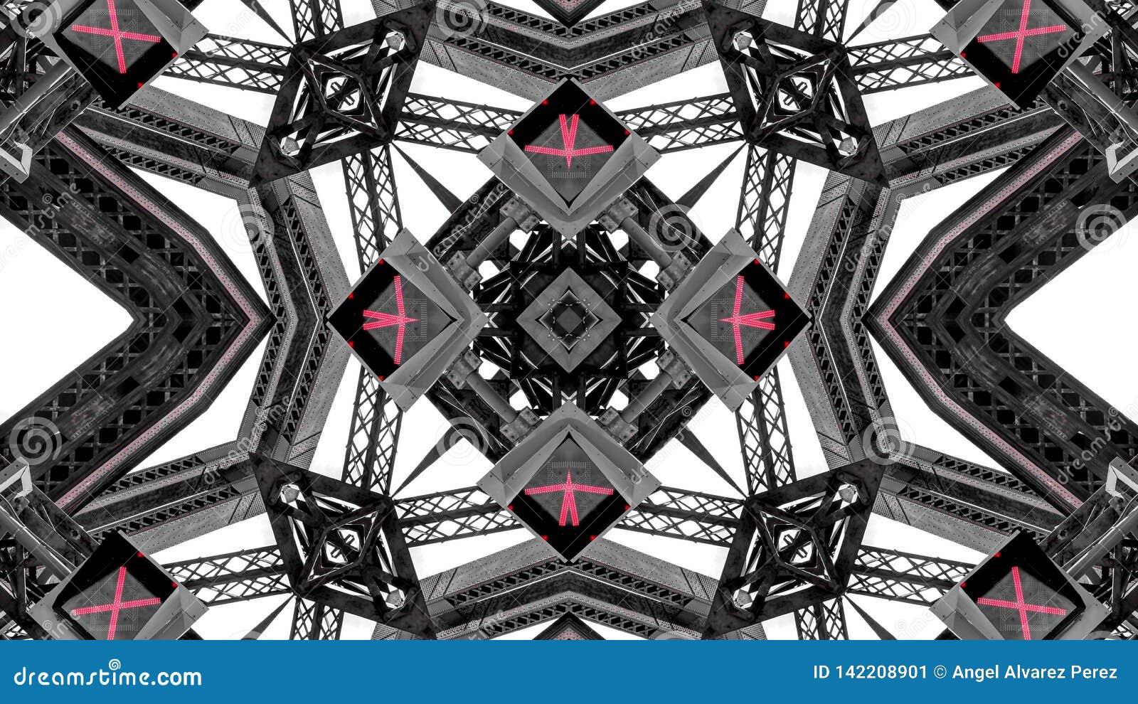 Papier Peint Effet Miroir effet de miroir des constructions m?talliques image stock