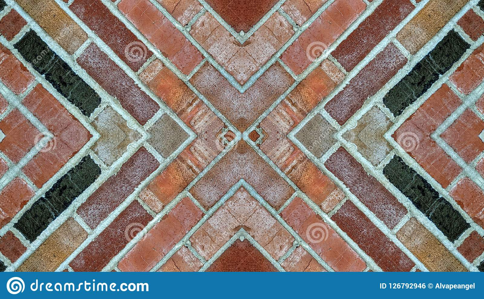 Effet De Miroir Sur Un Mur De Briques Photo Stock Image Du