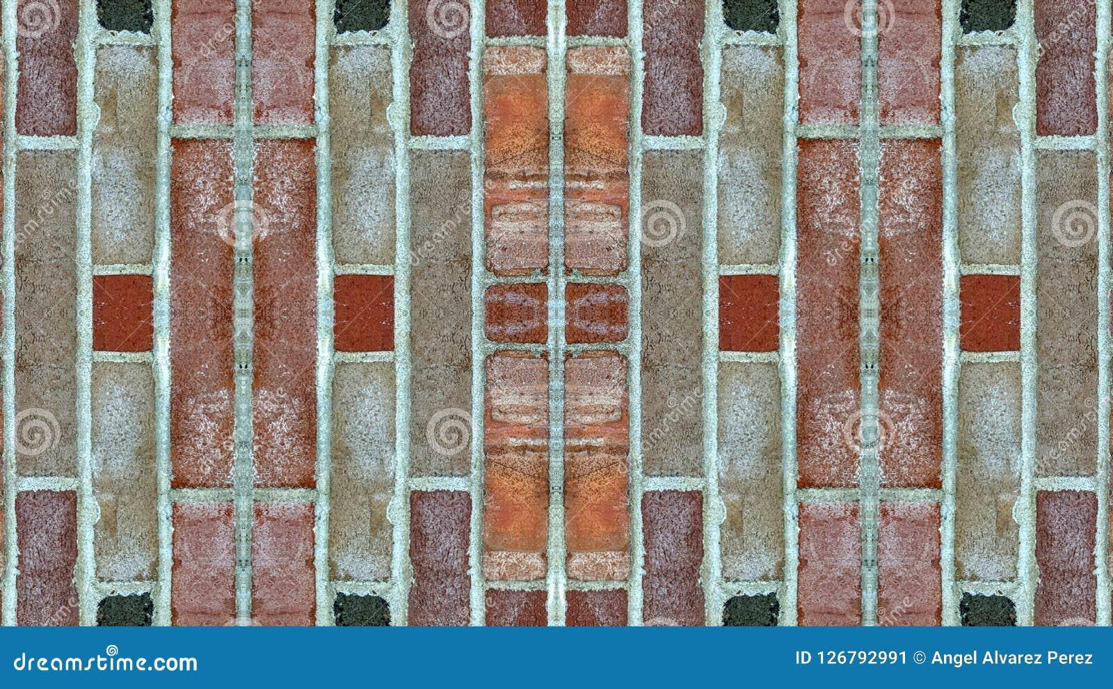 Papier Peint Effet Miroir effet de miroir sur un mur de briques image stock - image du