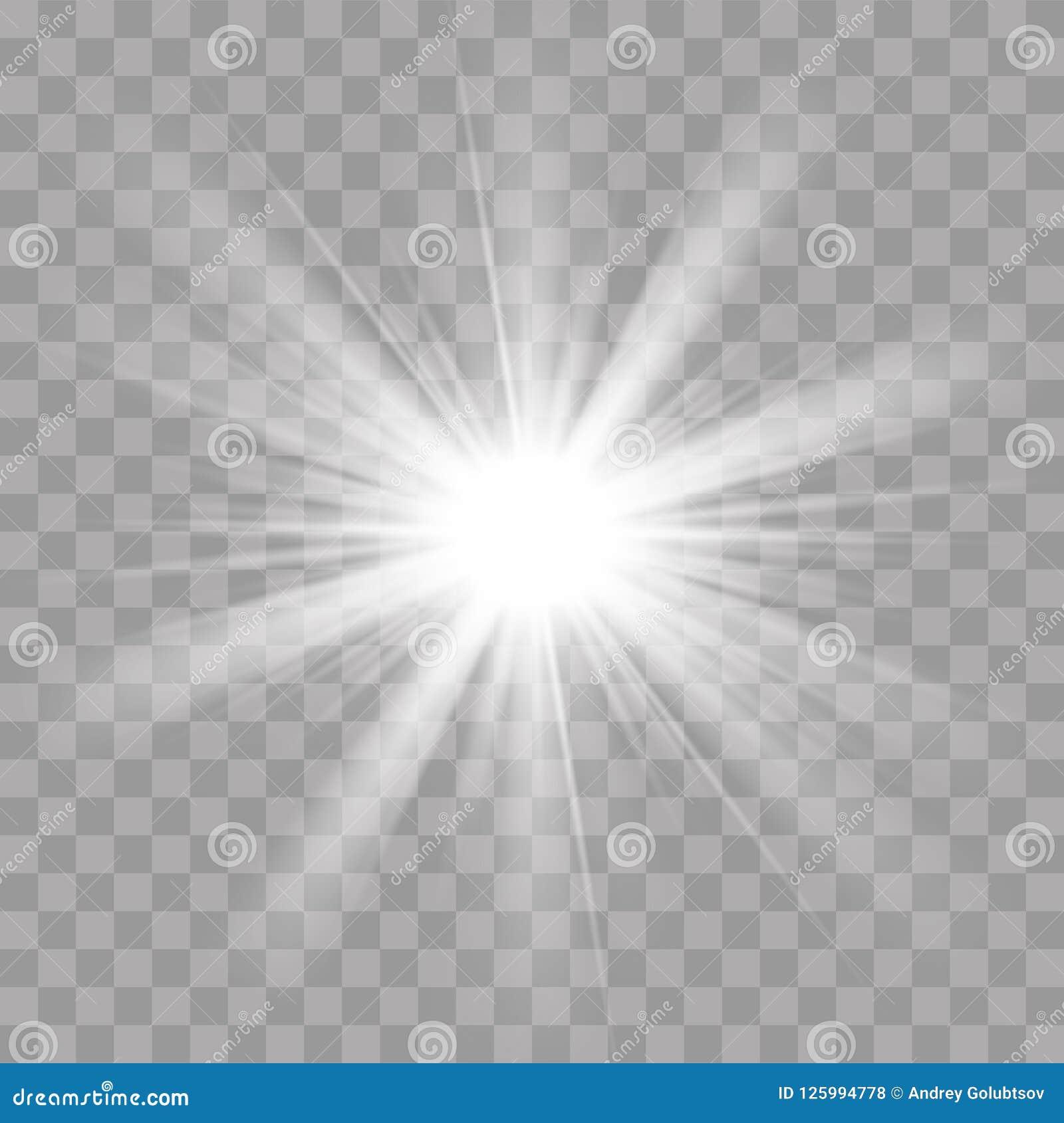 Effet instantané de rayonnement d éclat d étoile du soleil de rayons légers