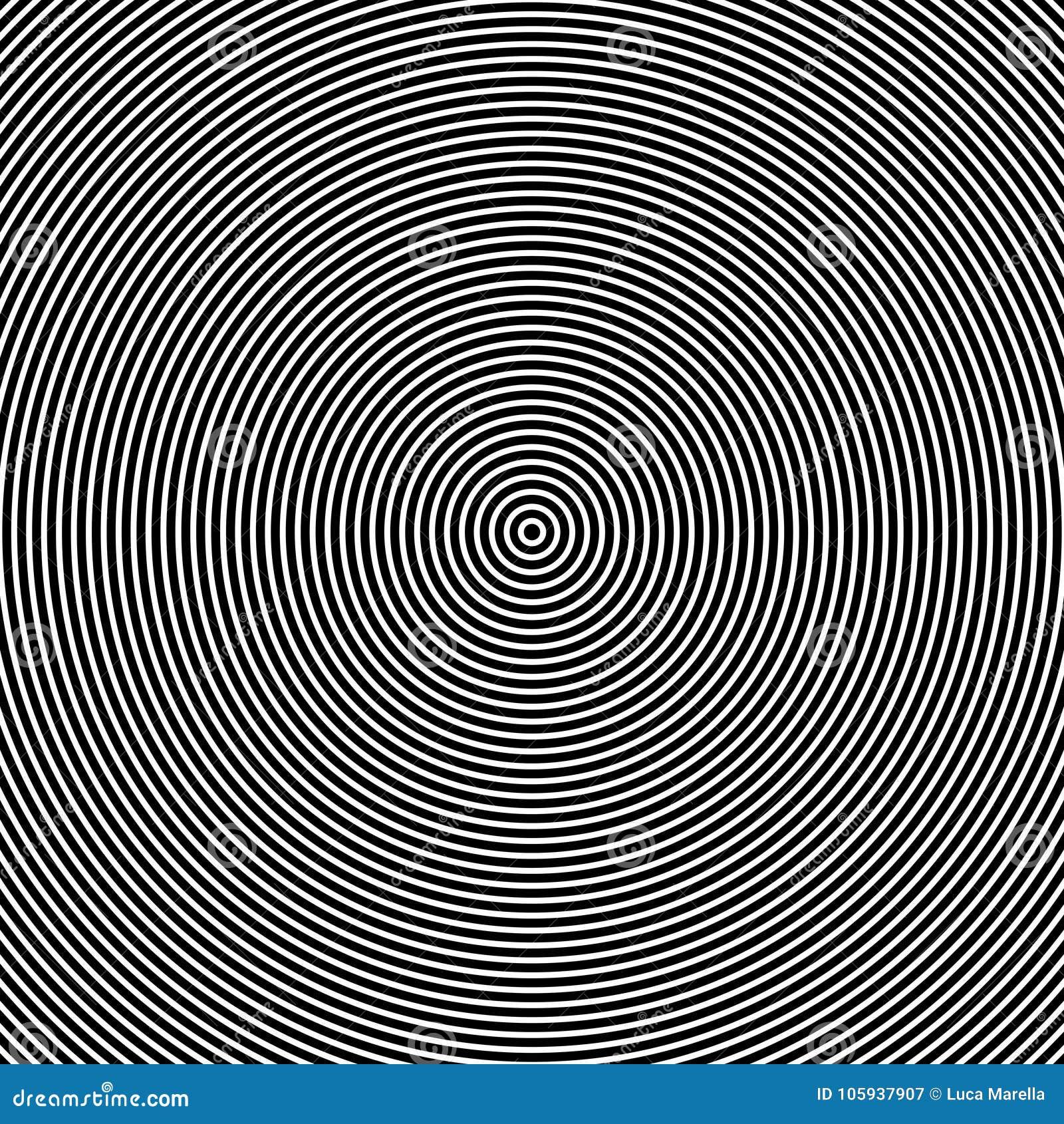 Effet optique de cercles concentriques