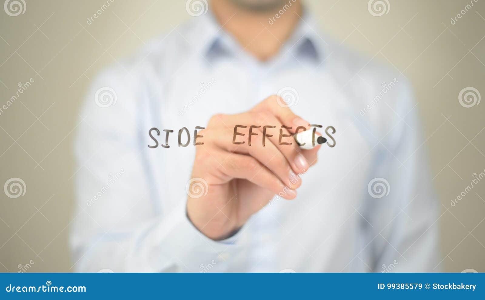 Effets secondaires, écriture d homme sur l écran transparent