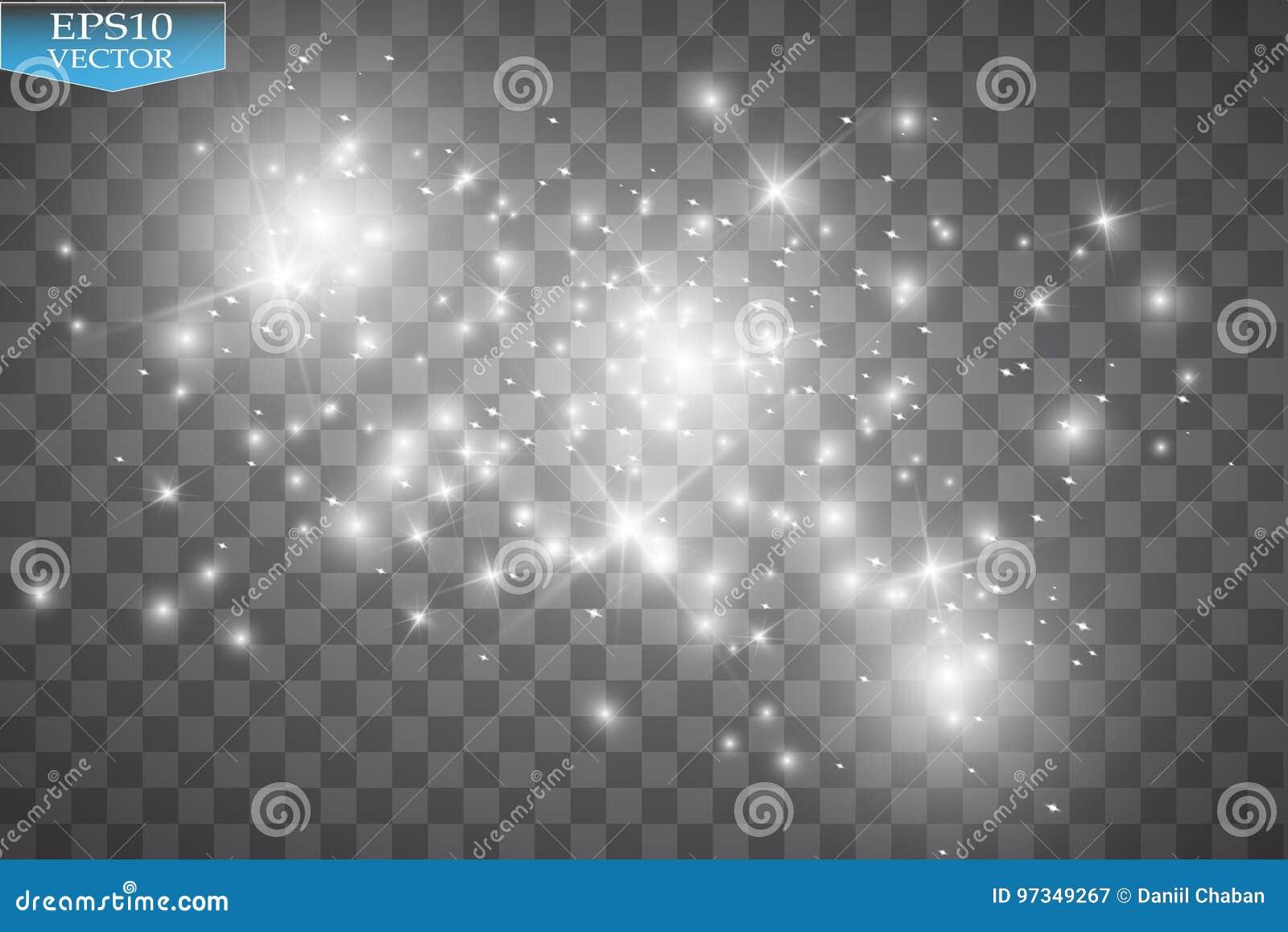 Effetto della luce di incandescenza Nuvola dell illustrazione brillante di vettore della polvere Natale