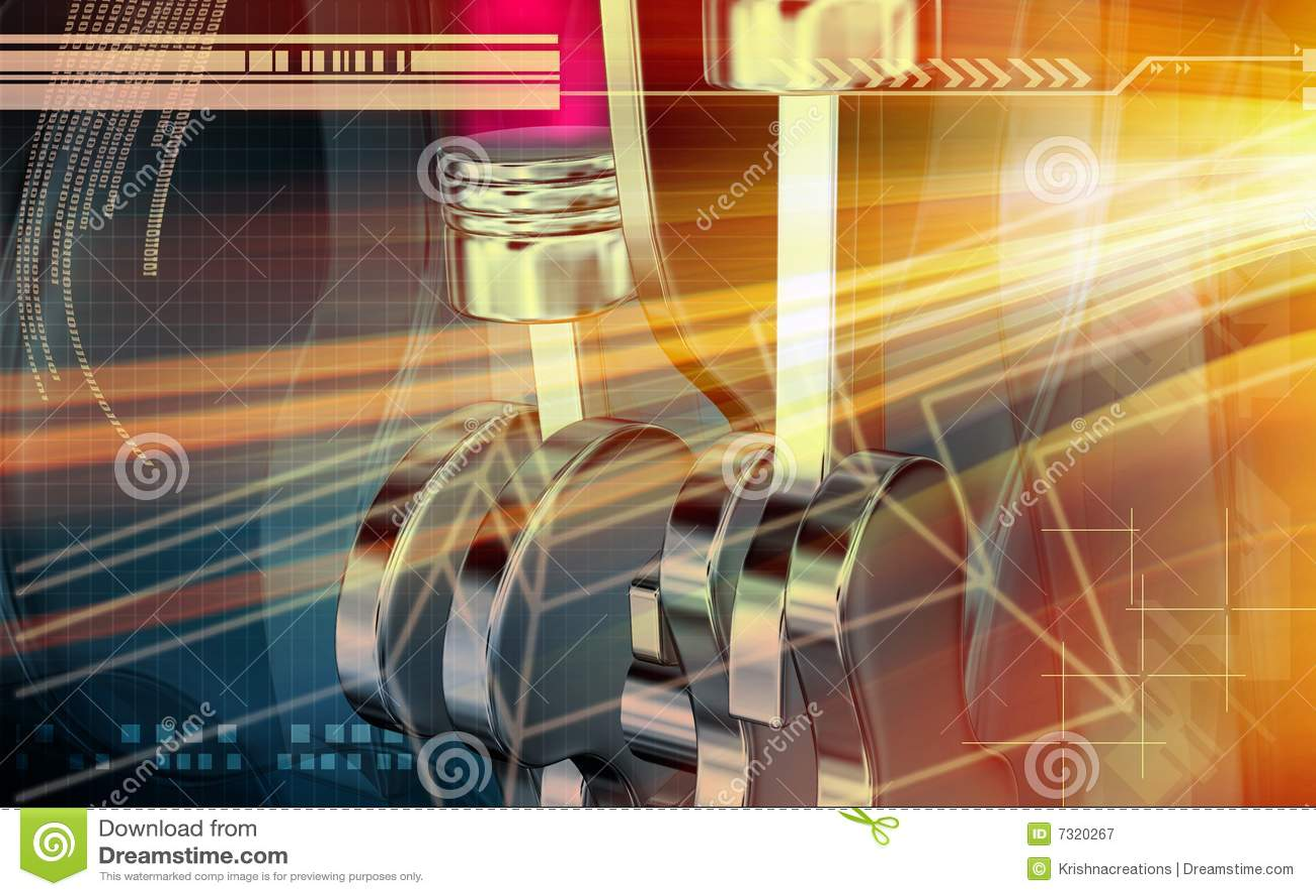 Effetto di Digitahi dei motori