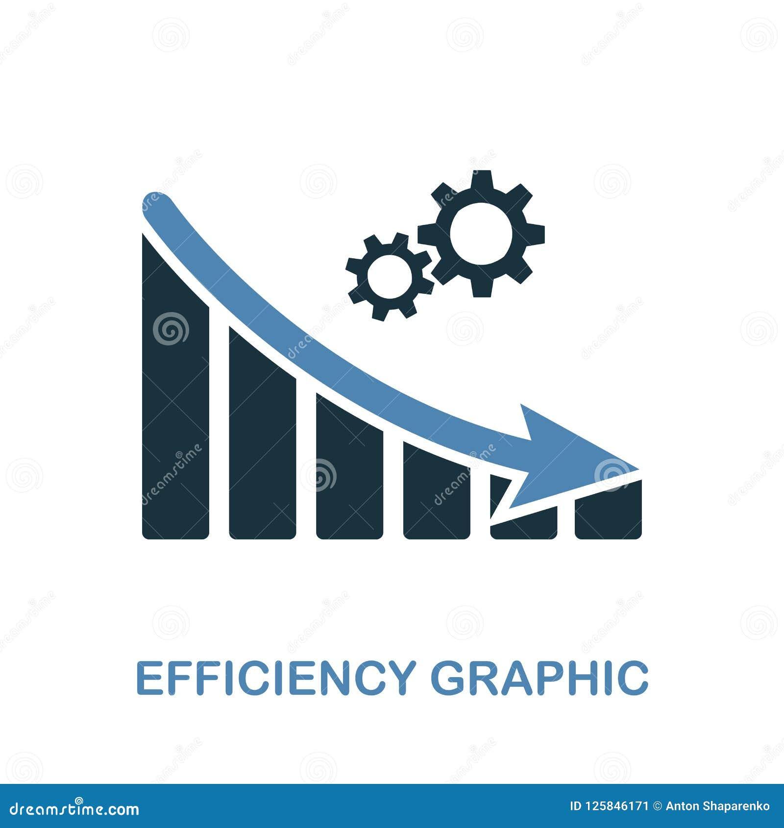 Efficiency Decrease Graphic Icon  Monochrome Style Design