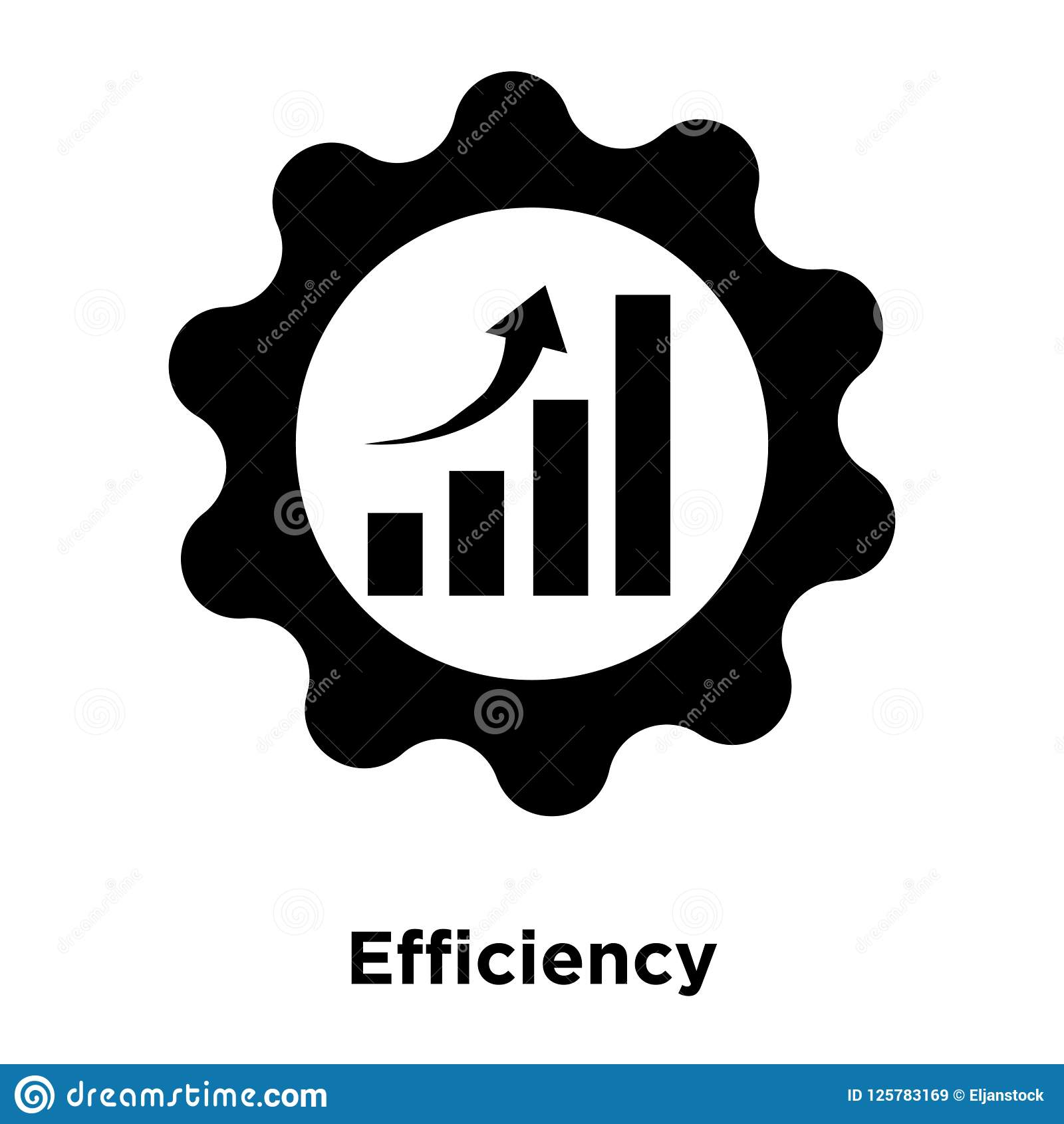 0b43c7c91 Efficiency Icon Vector Isolated On White Background