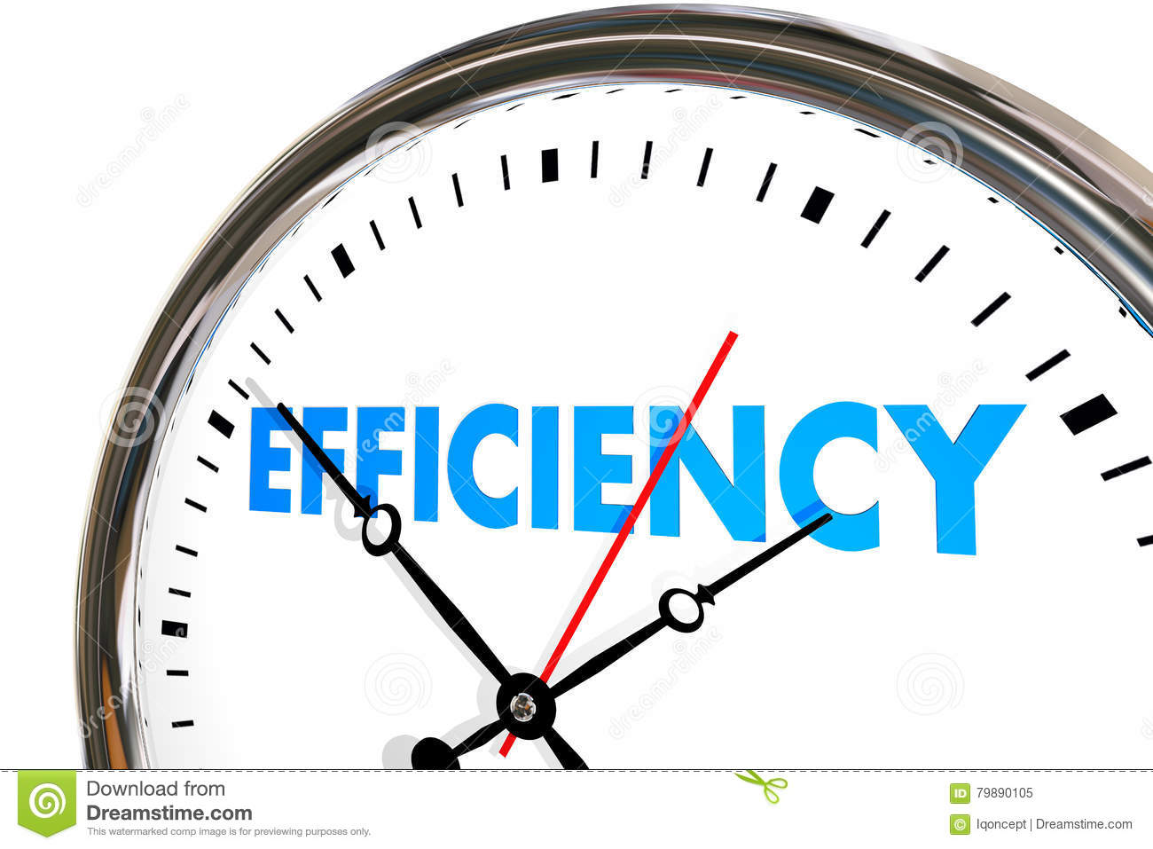 Efficiency Productivity Clock Word Work Results Stock ...