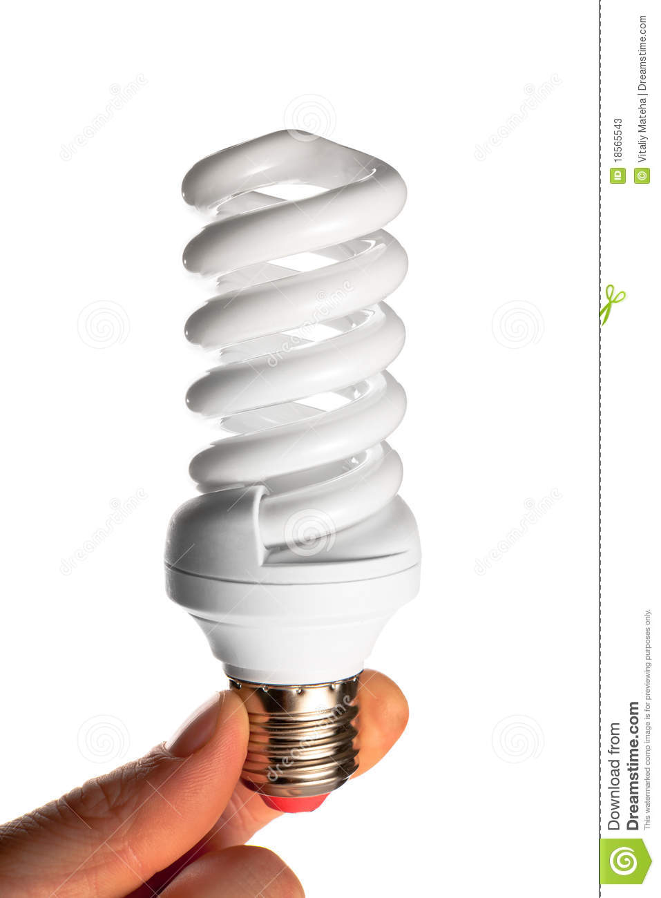 Efficient Compact Fluorescent Light Bulb Stock Photos Image 18565543