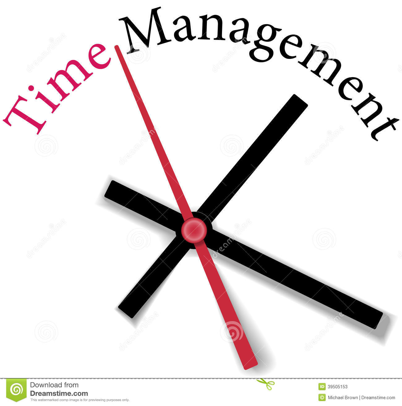 Efficient time management clock work stock vector for Time for business