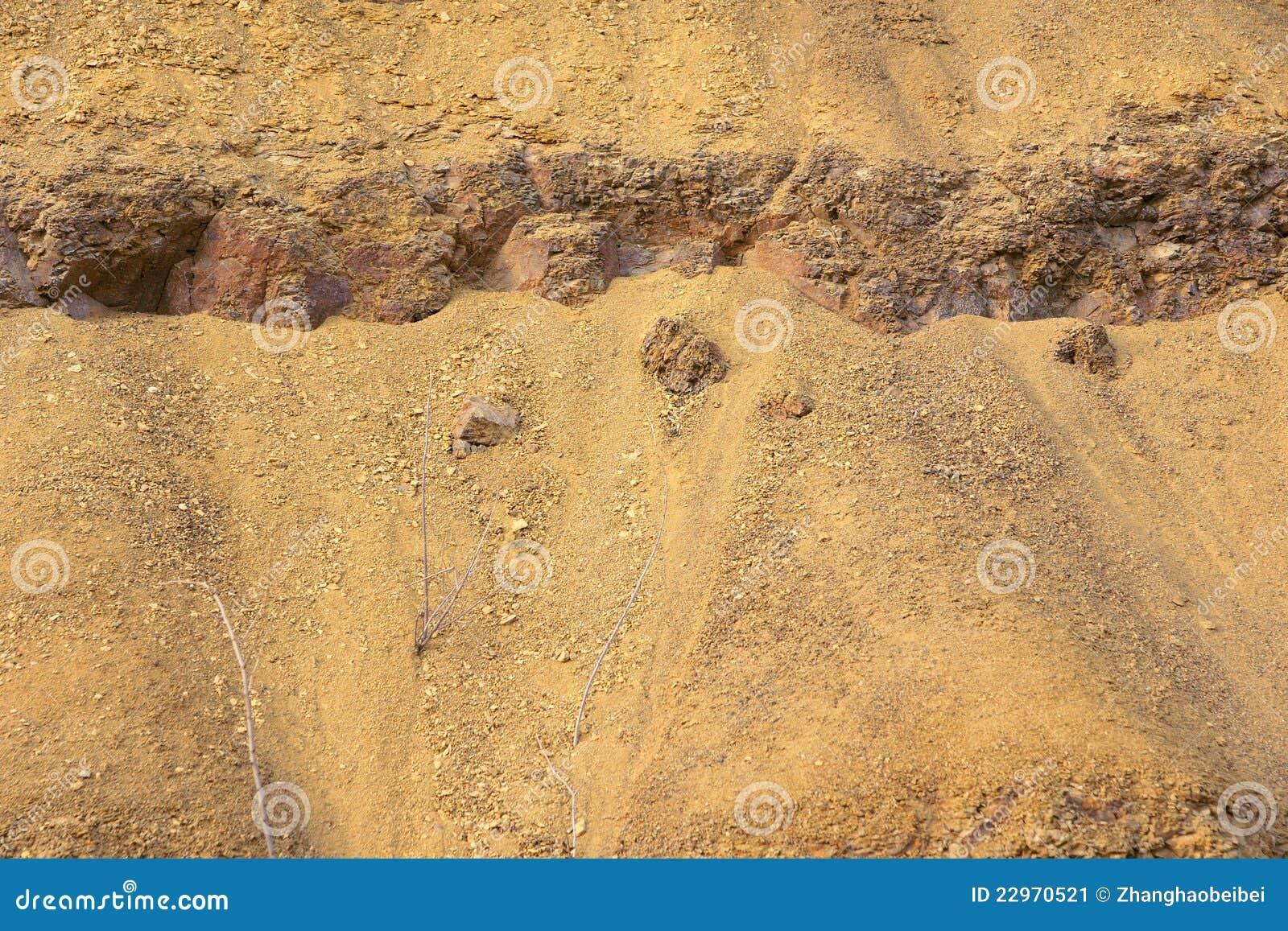 Efflorescent rocks
