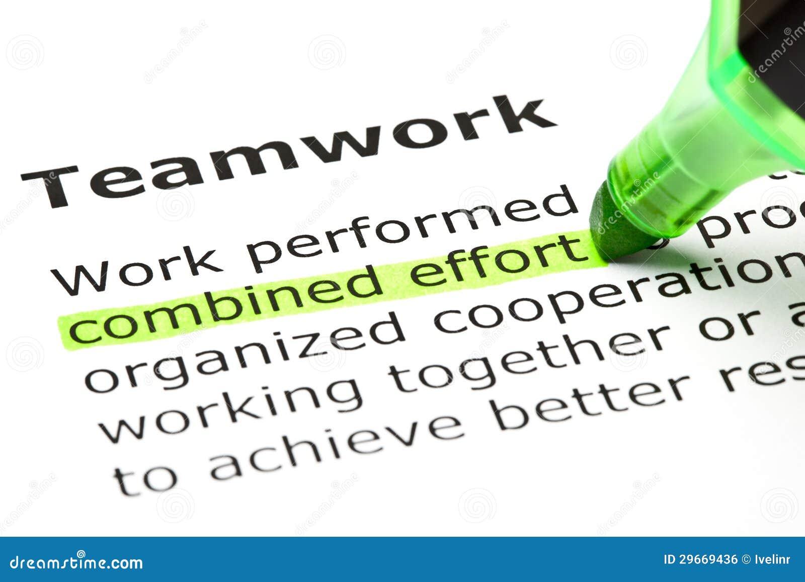 Effort combiné accentué, sous le travail d équipe