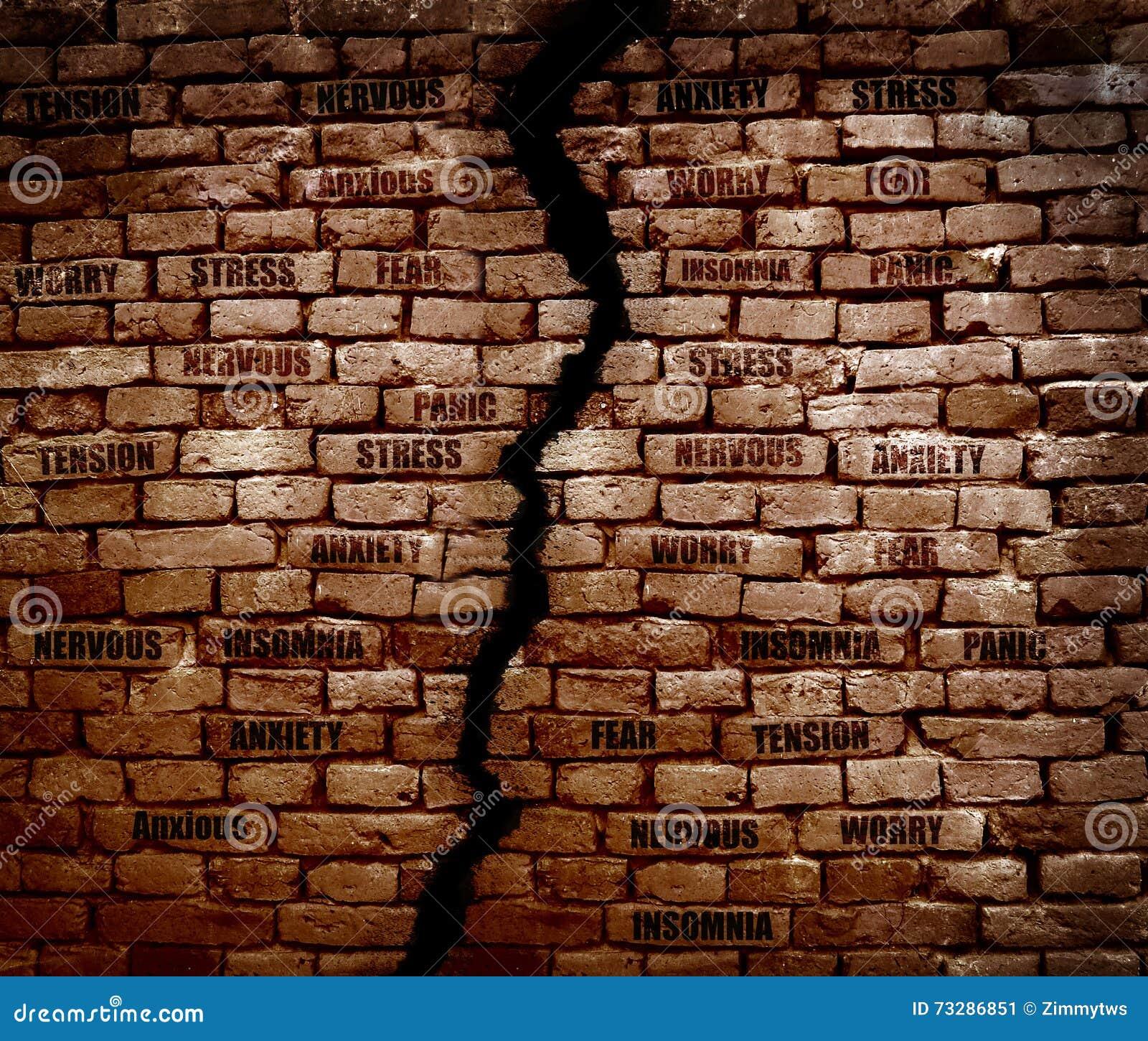 Effort de mur de briques