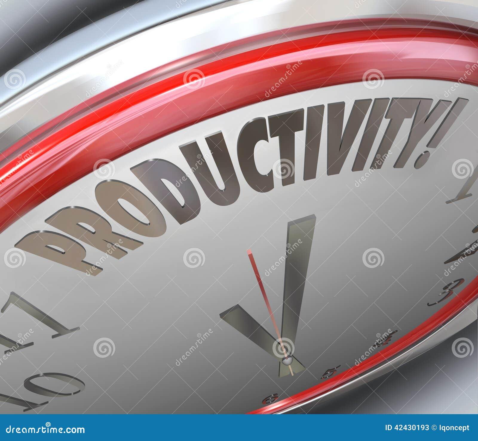 Eficacia del aumento del reloj de la productividad hecha salir hecha menos Tim