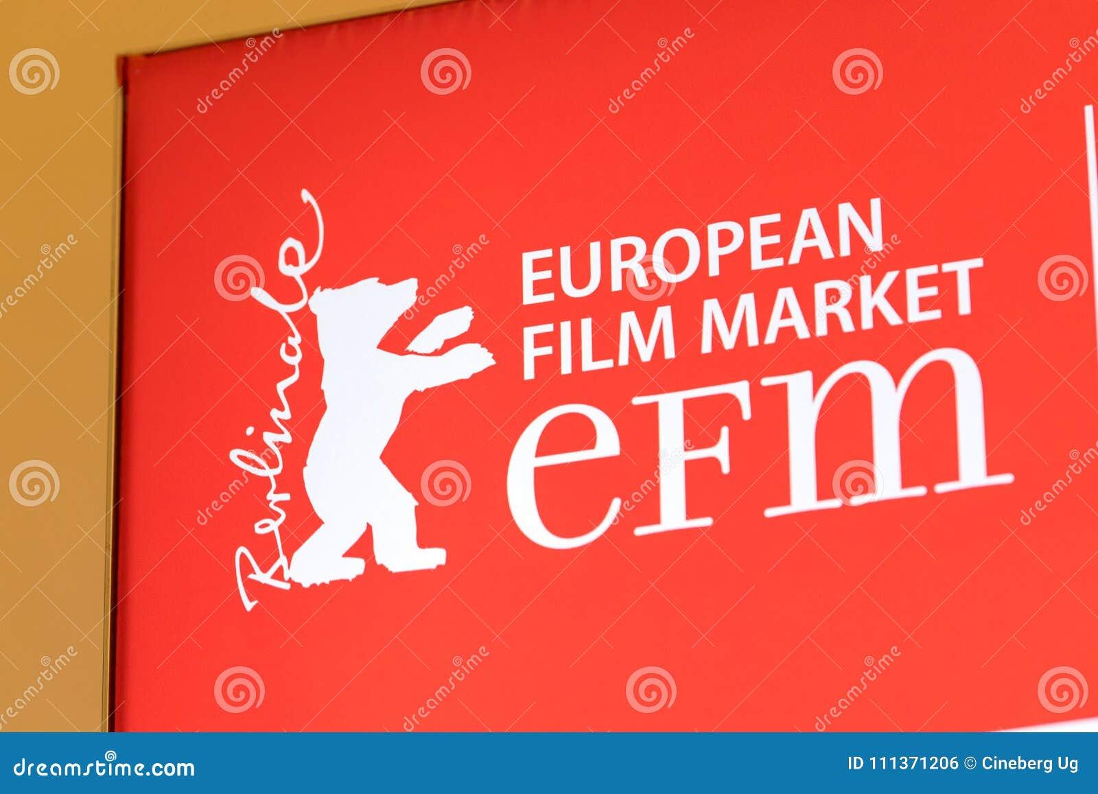 EFM European Film Market Red Banner Editorial Photo - Image