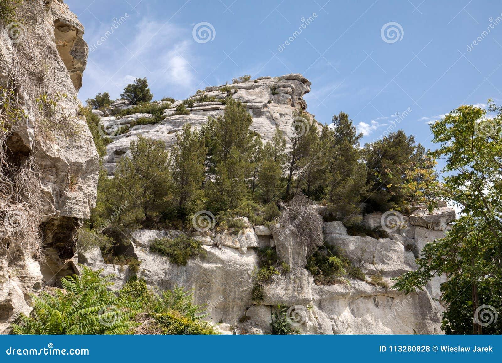 ` Efner Val d, Les Baux de Провансаль, Bouches-du-Рона, Провансаль