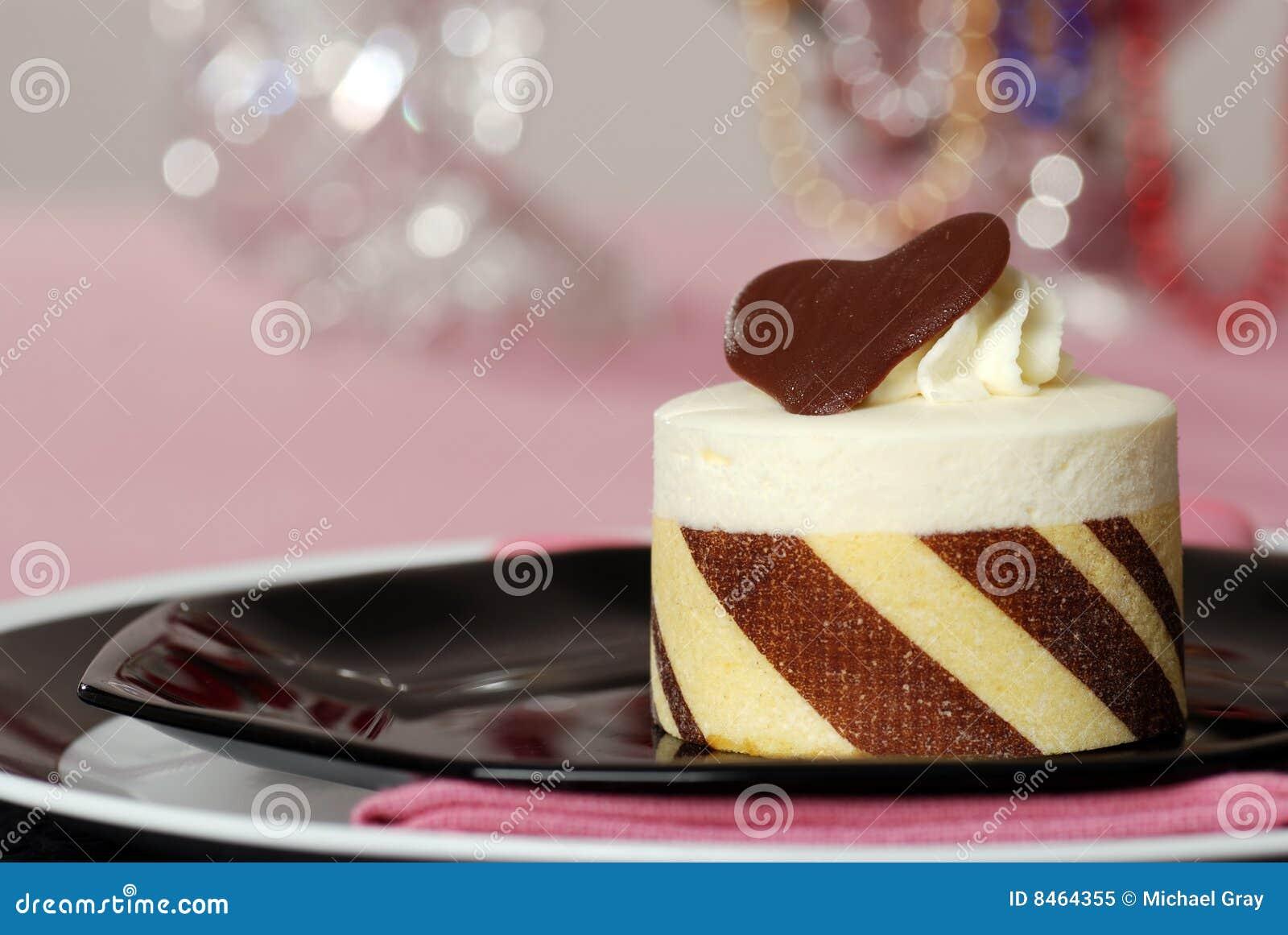 Efterrätt för cakechokladclose upp white