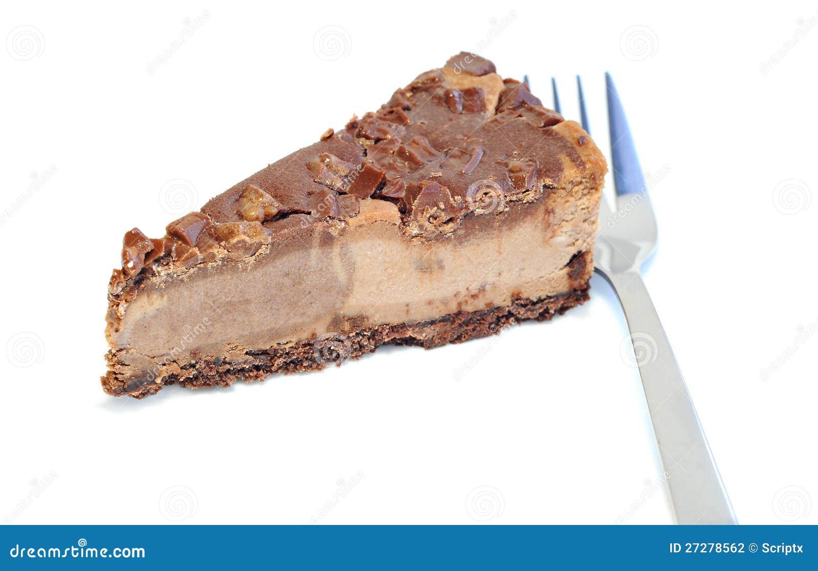 Efterrätt - läcker ostkaka med choklad
