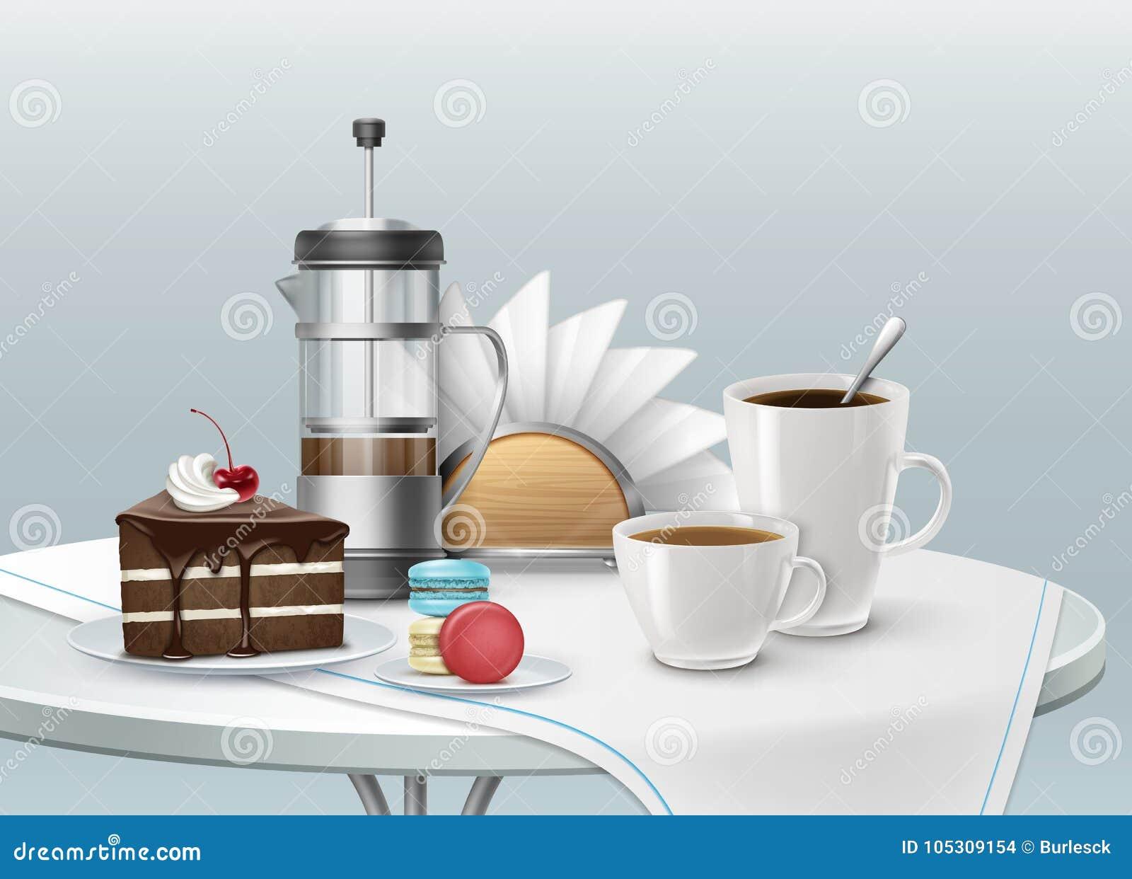 Efterrätt och kaffe