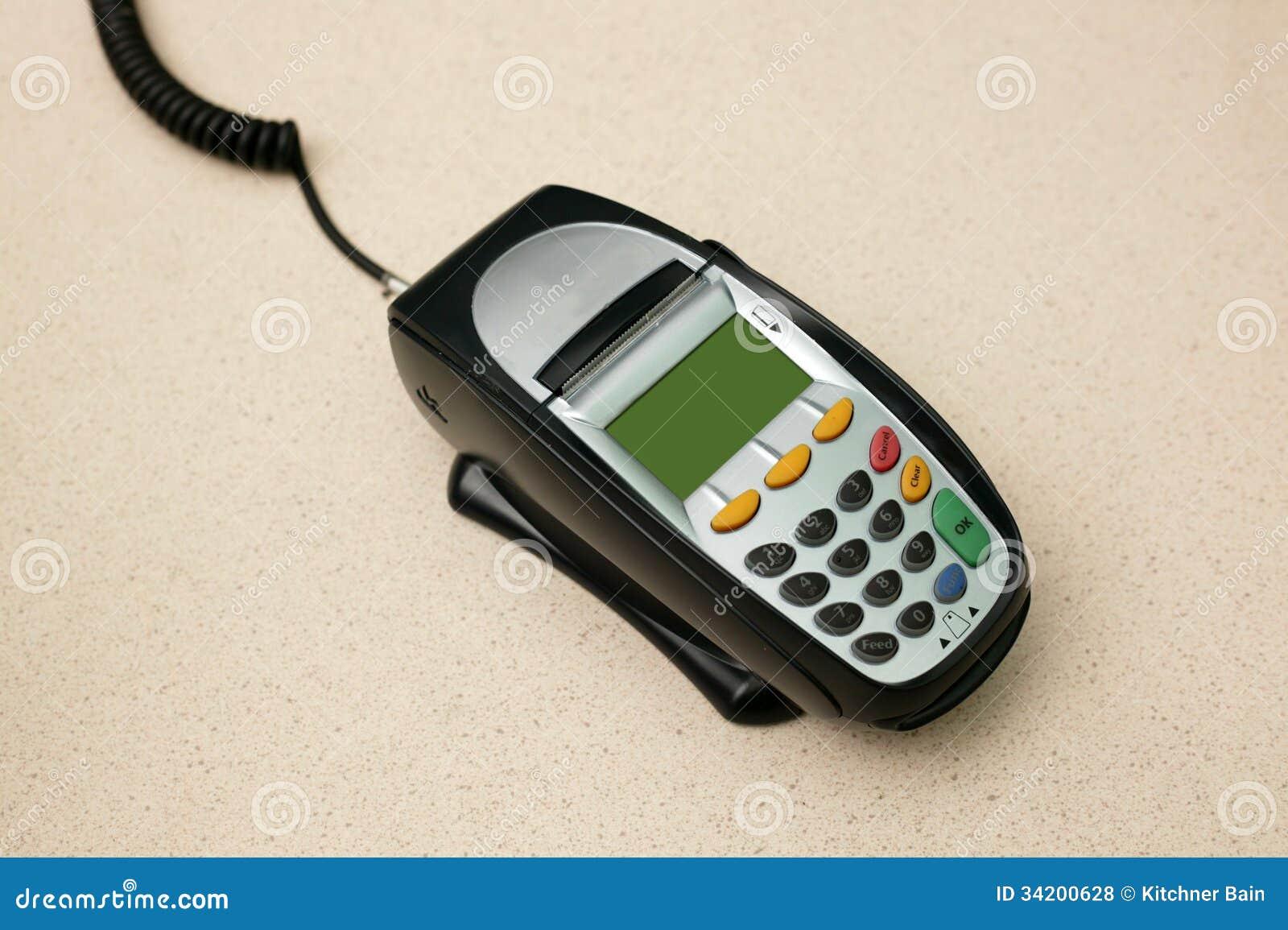 Eftpos Machine stock photo. Image of numbers, businessman ...