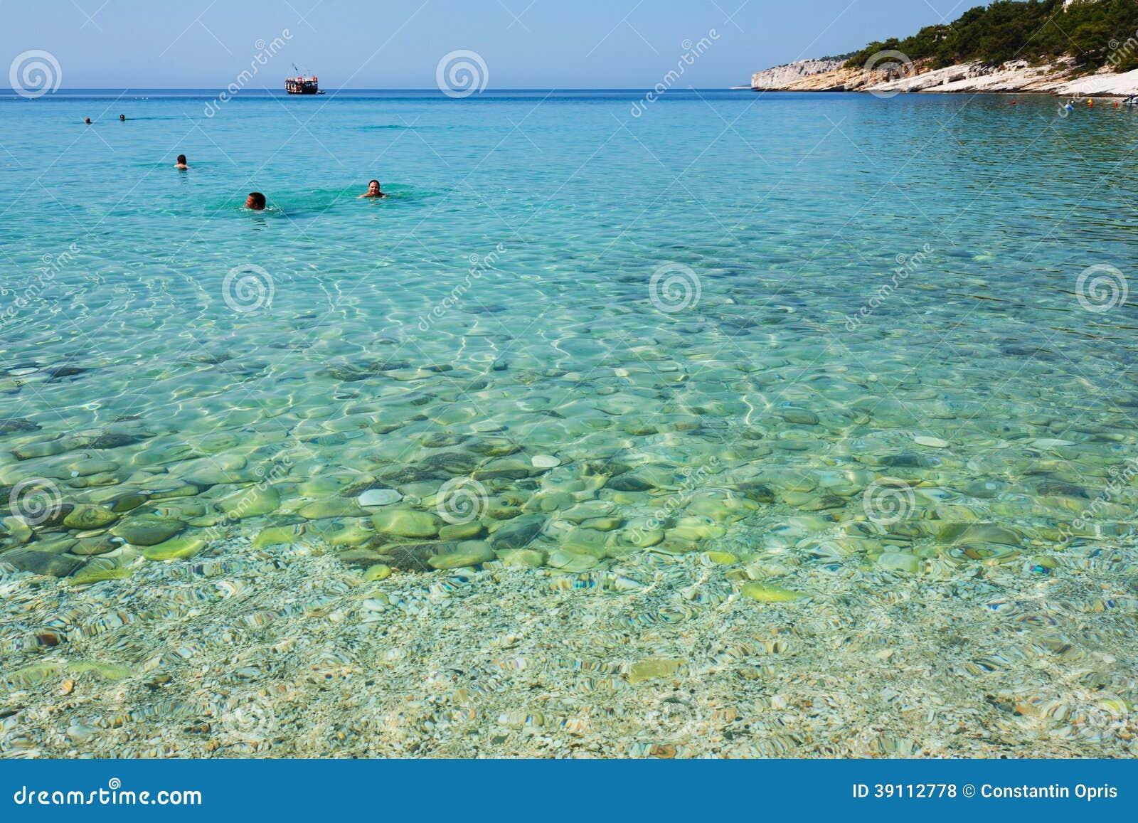 Egeïsche overzees in Griekenland