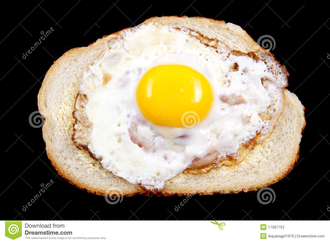 Kitchen themes coffee - Eggs With Bacon On Bread Isolated Over White